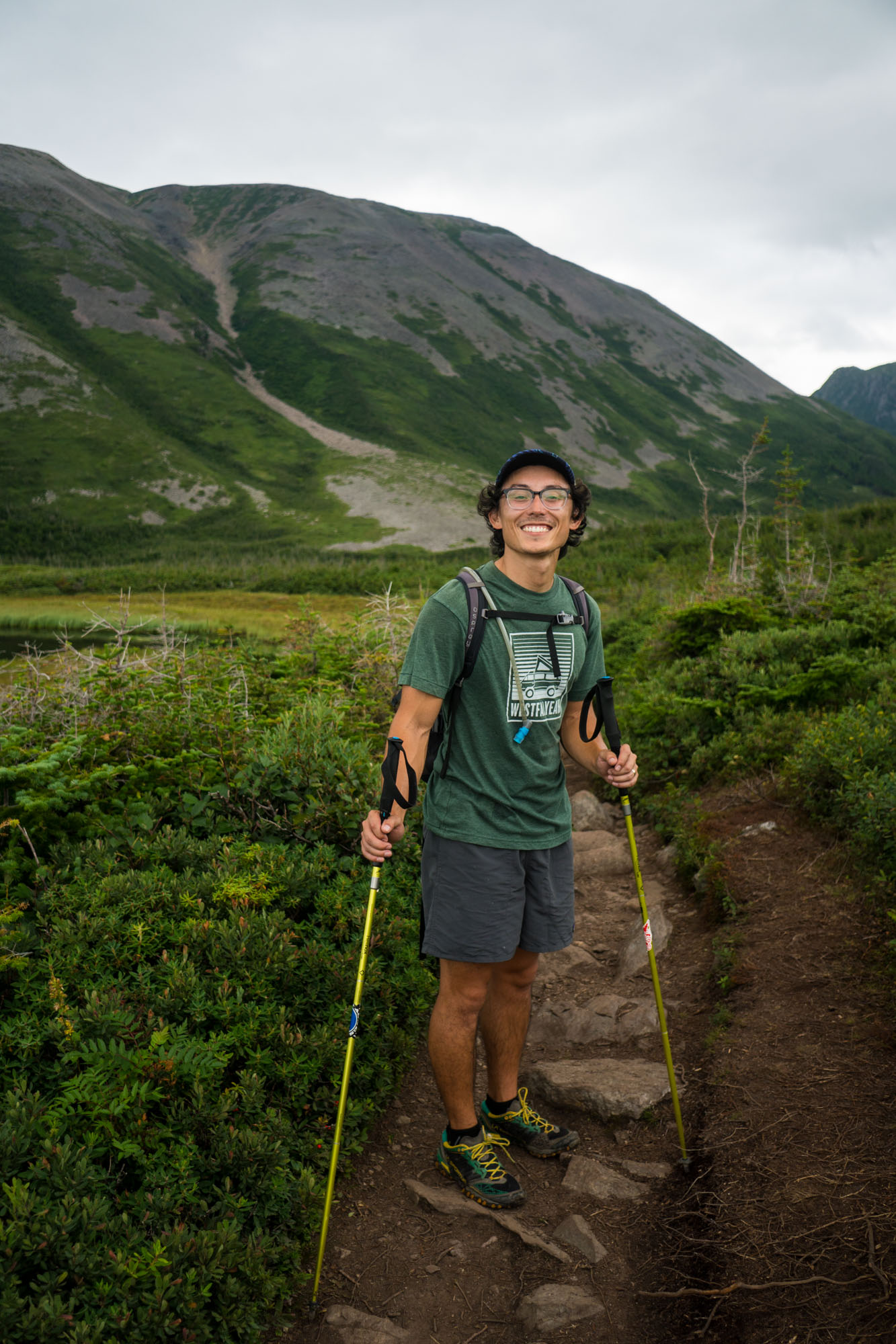 Owen starting the hike up Gros Morne