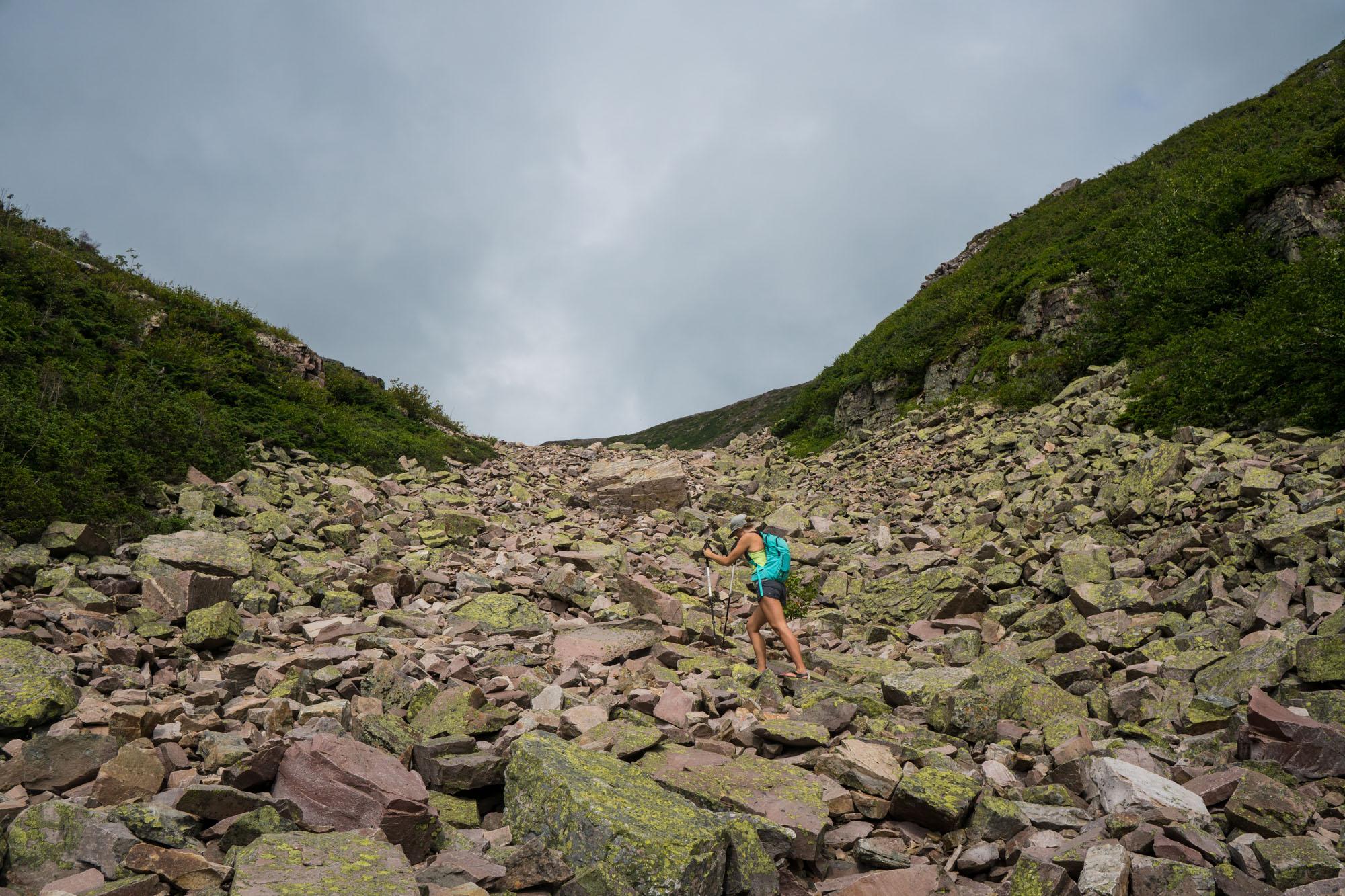 Steep climb to the summit