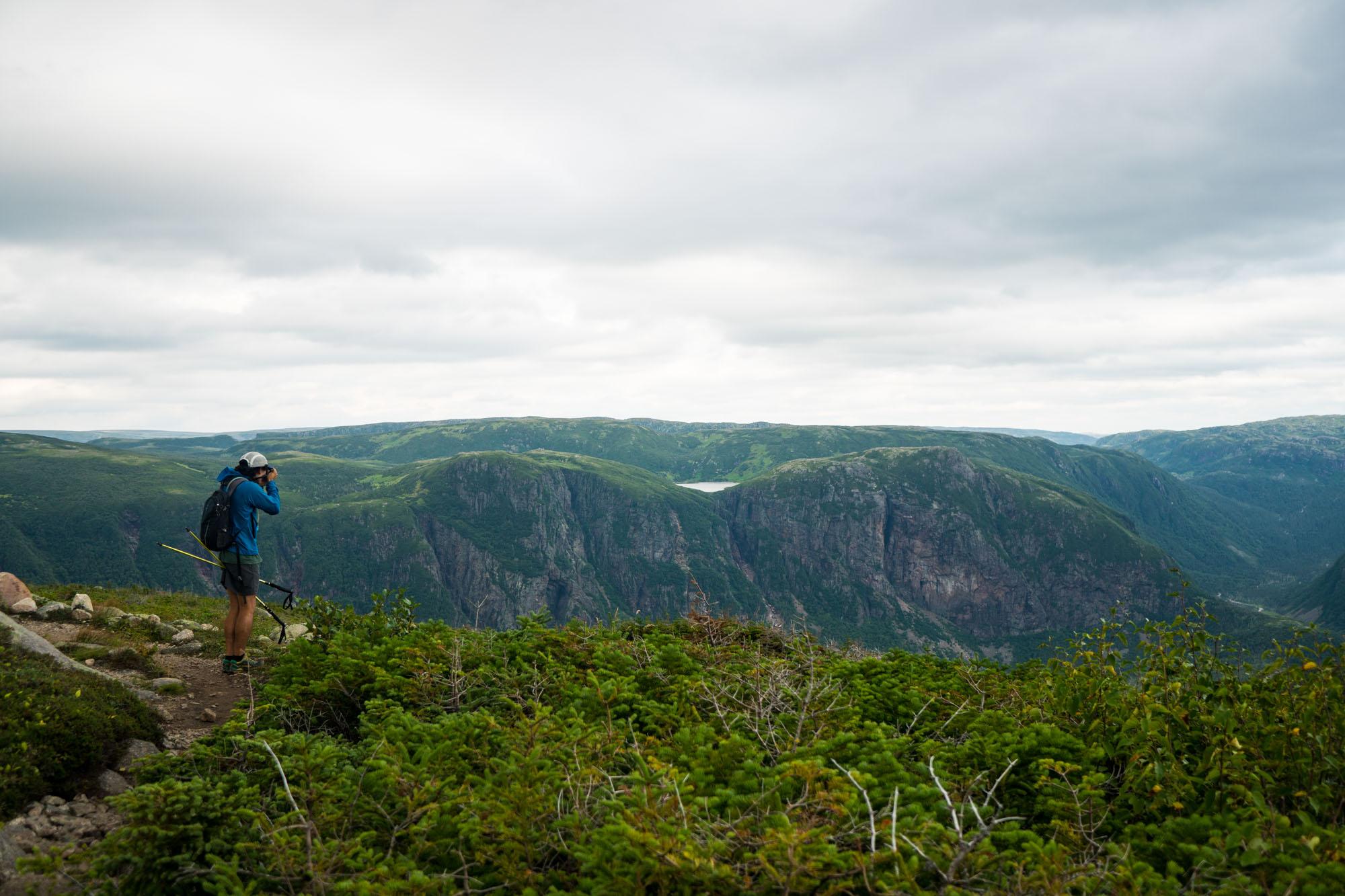 Owen capturing the Long Range Mountains