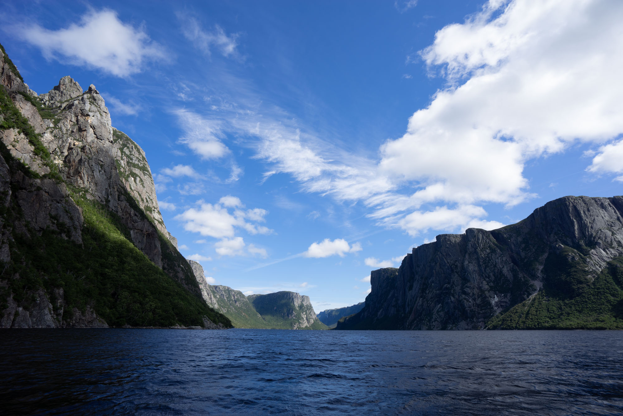 Western Brook Pond from the water