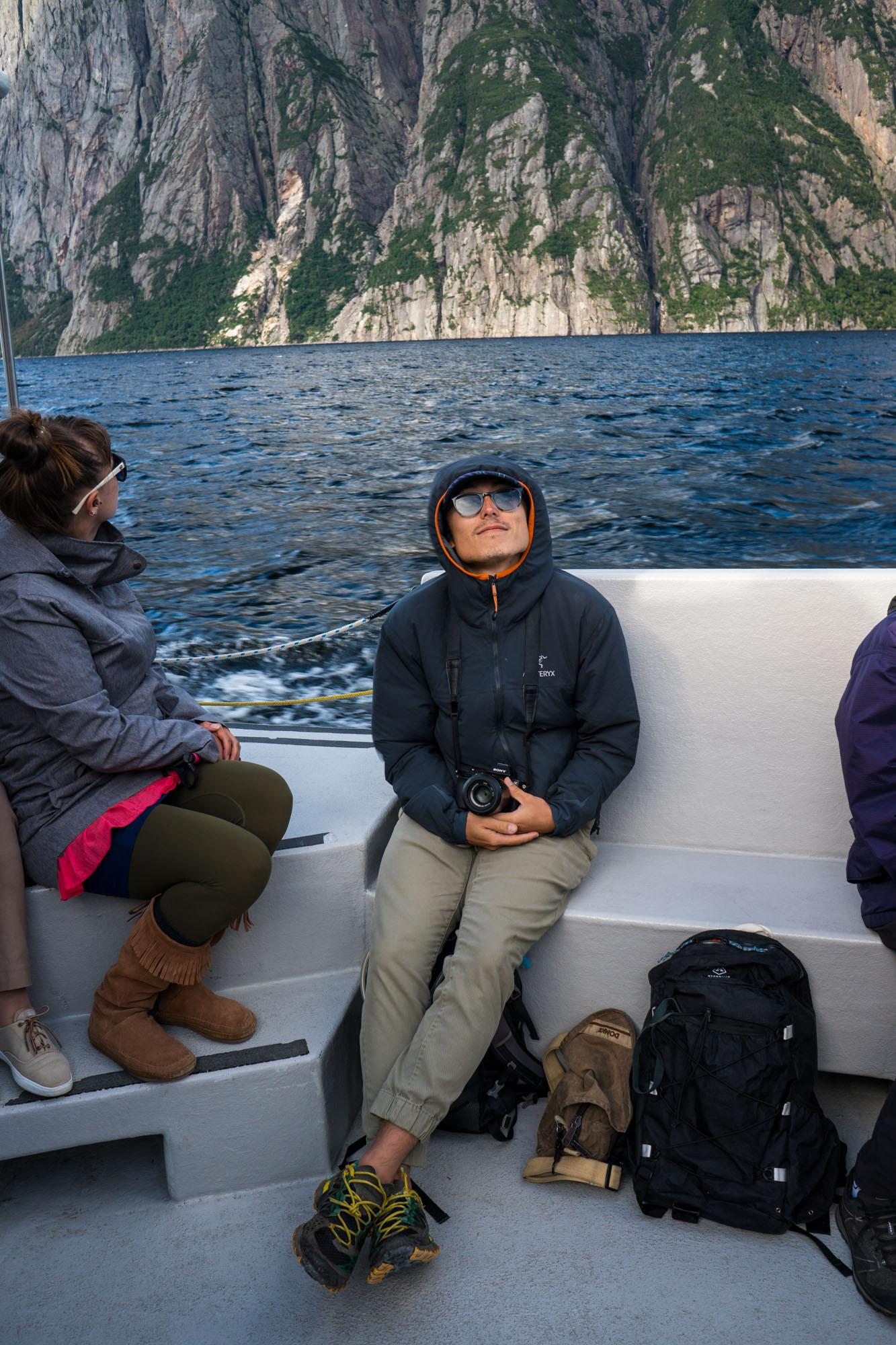 Owen onboard the tour boat