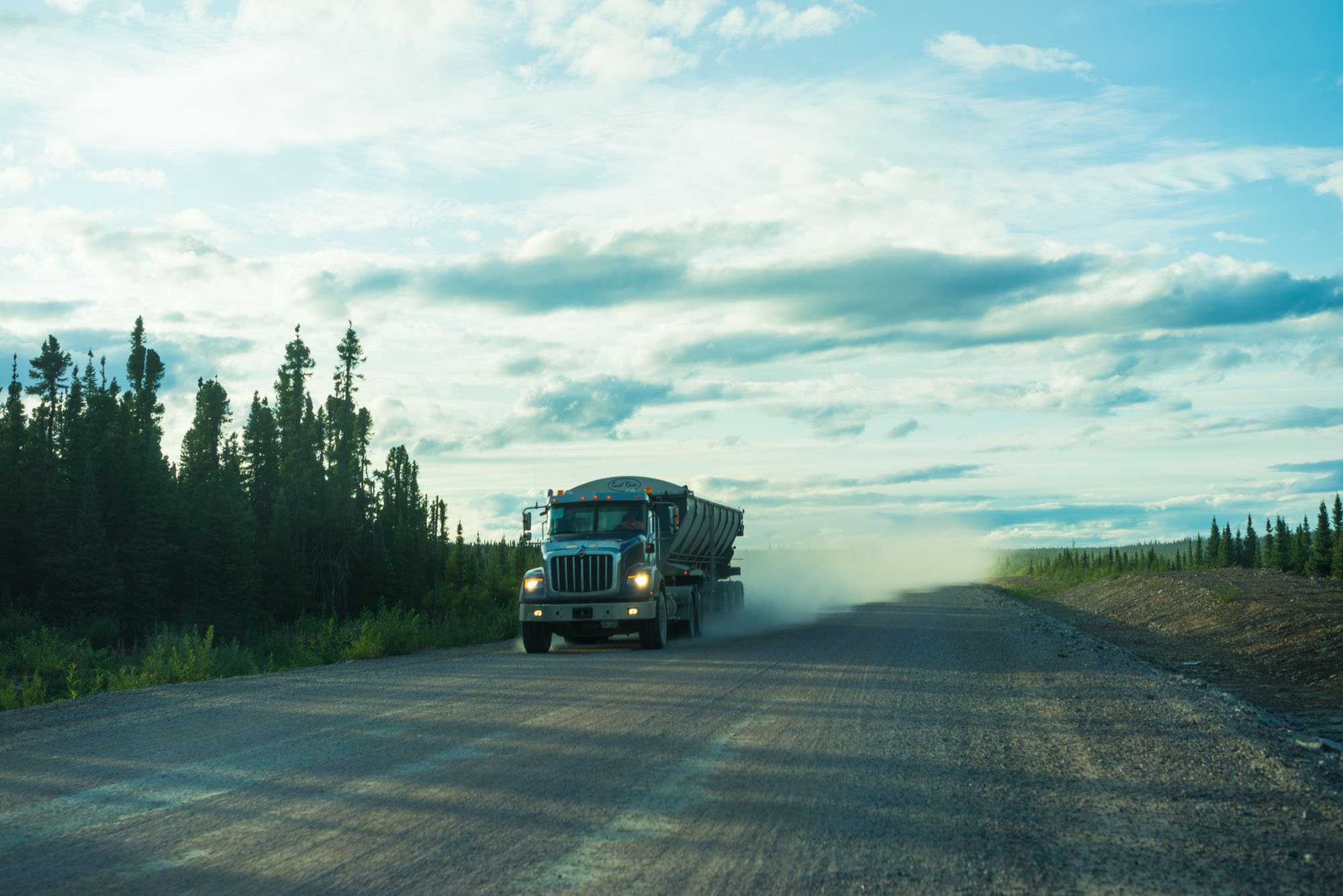 Construction vehicles were the only other people we would see on the Trans Labrador HWY