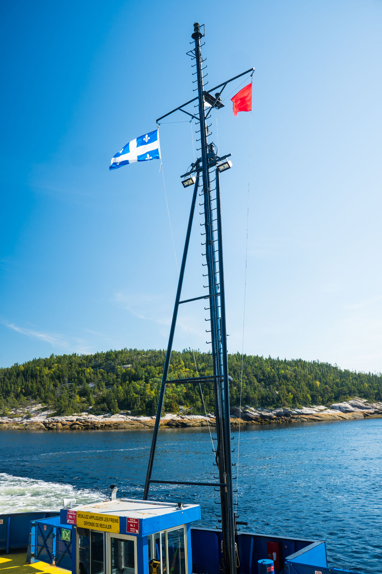 Ferry crossing of the Saguenay river in Tadoussac, Quebec