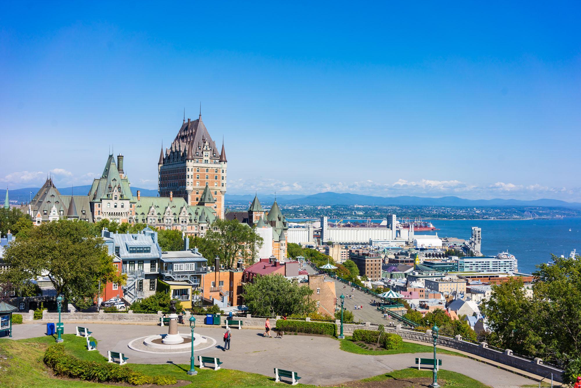 View of Old Quebec City from Parc du Bastion-de-la-Reine