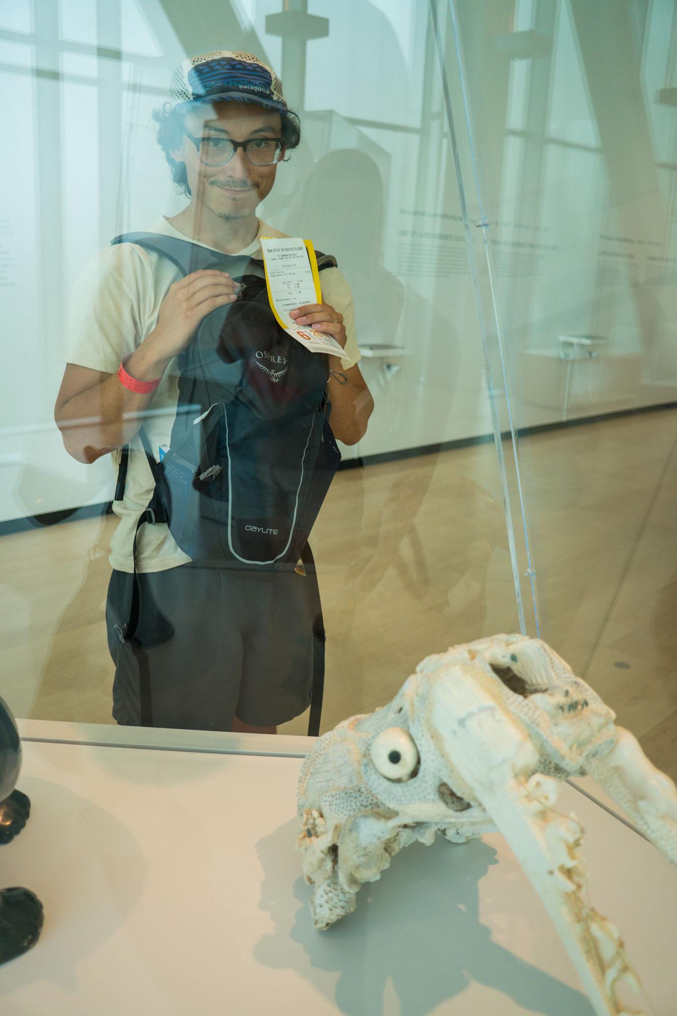 Owen enjoying the art in the Musée national des beaux-arts du Québec