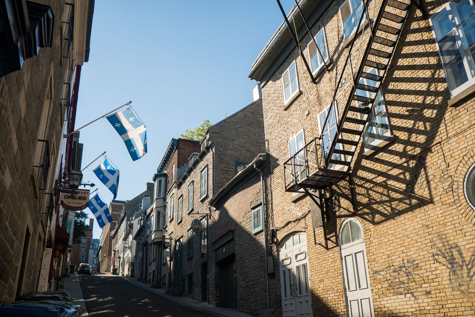 Streets of Old Quebec city