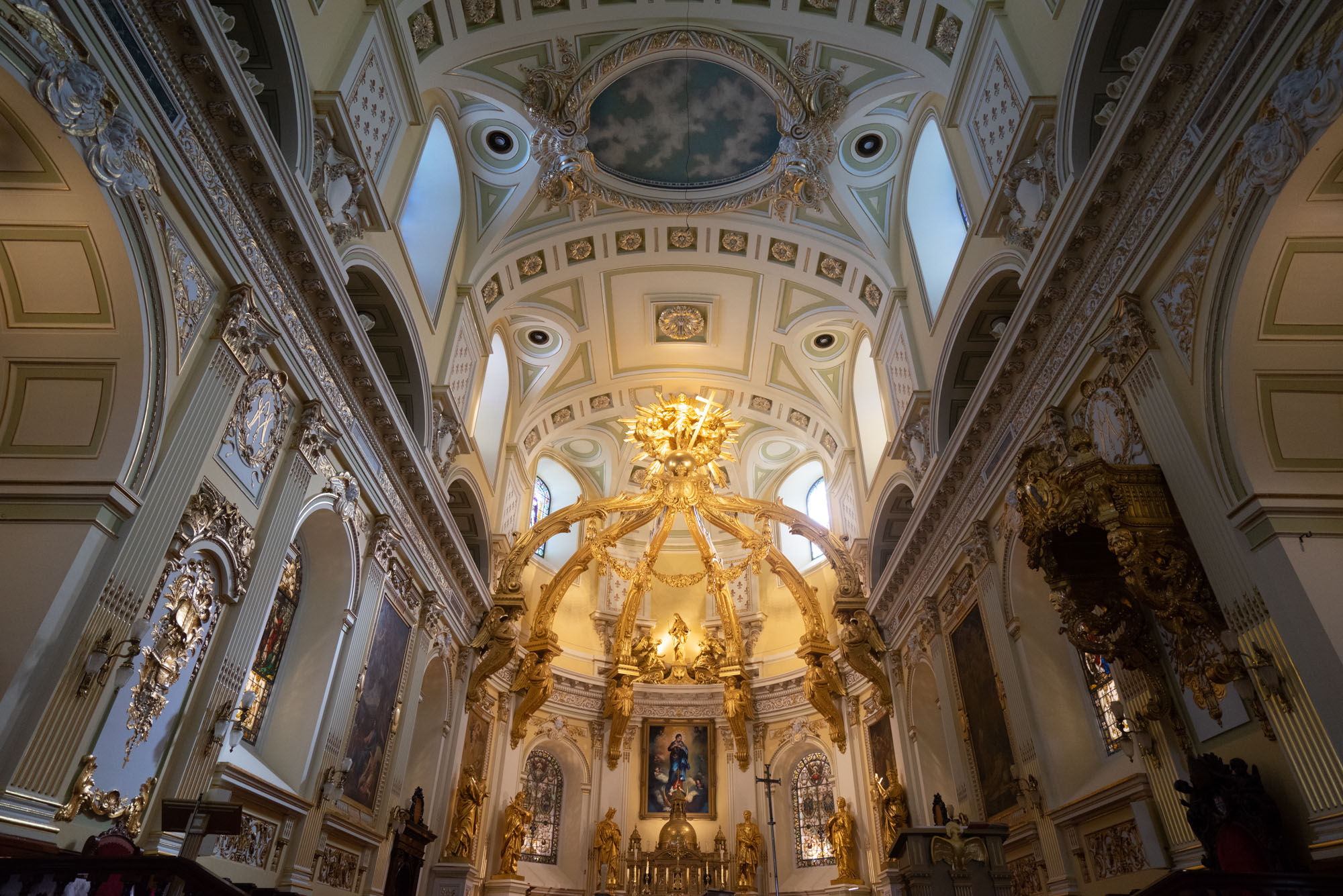 Inside the Notre-Dame de Québec Basilica Cathedral