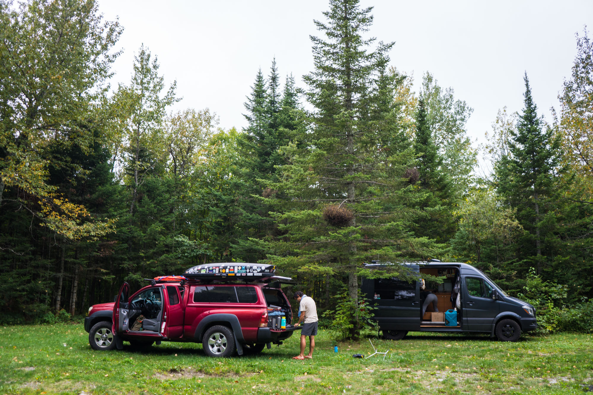 The many campsites around Domaine du Radar