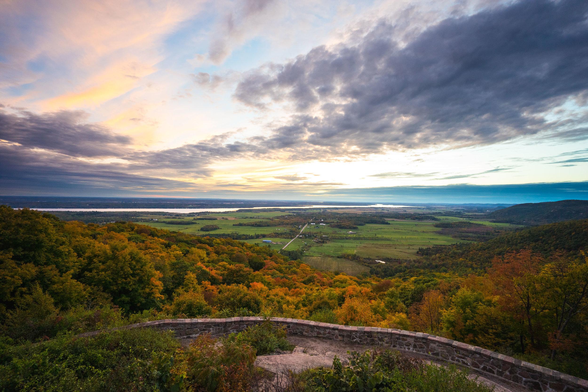 Fall sunset outside of Ottawa