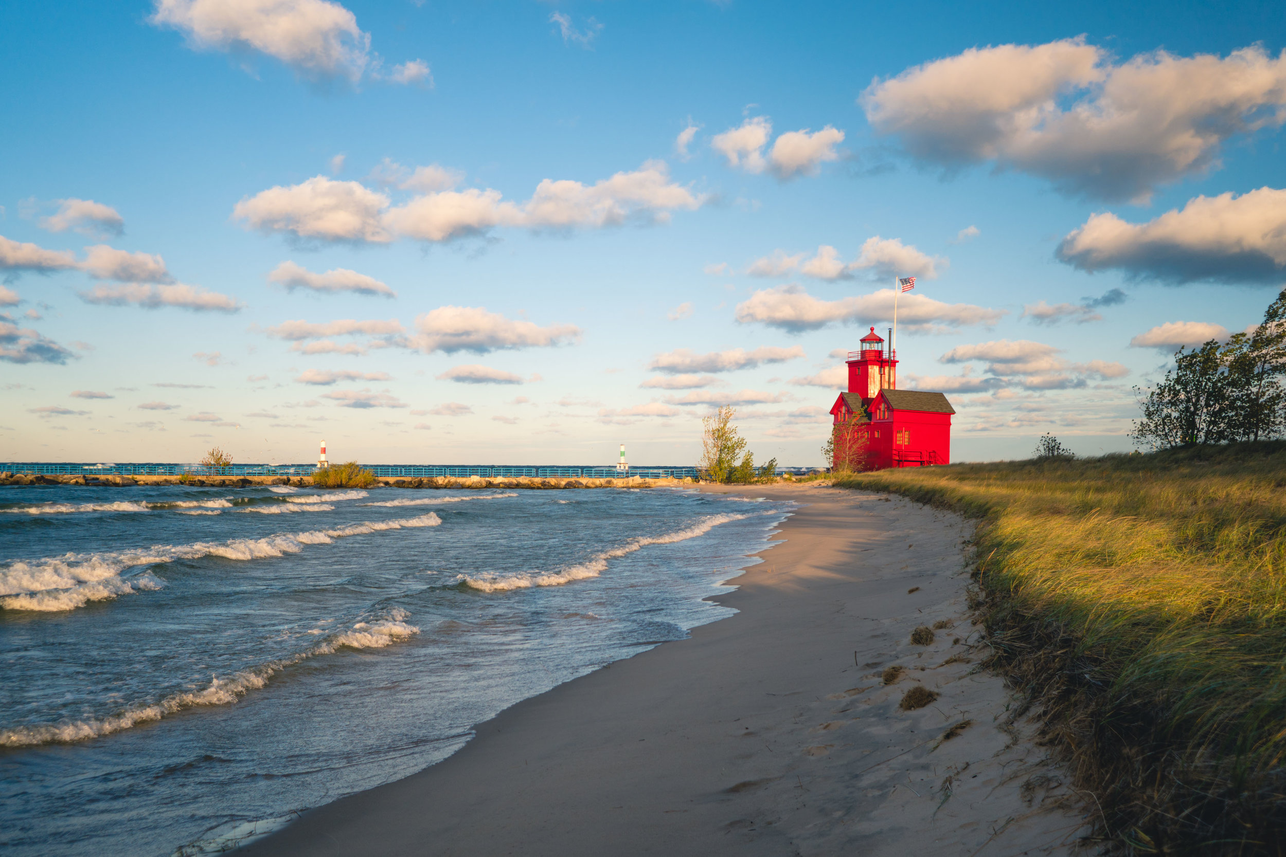 Lighthouse in Holland, Michigan