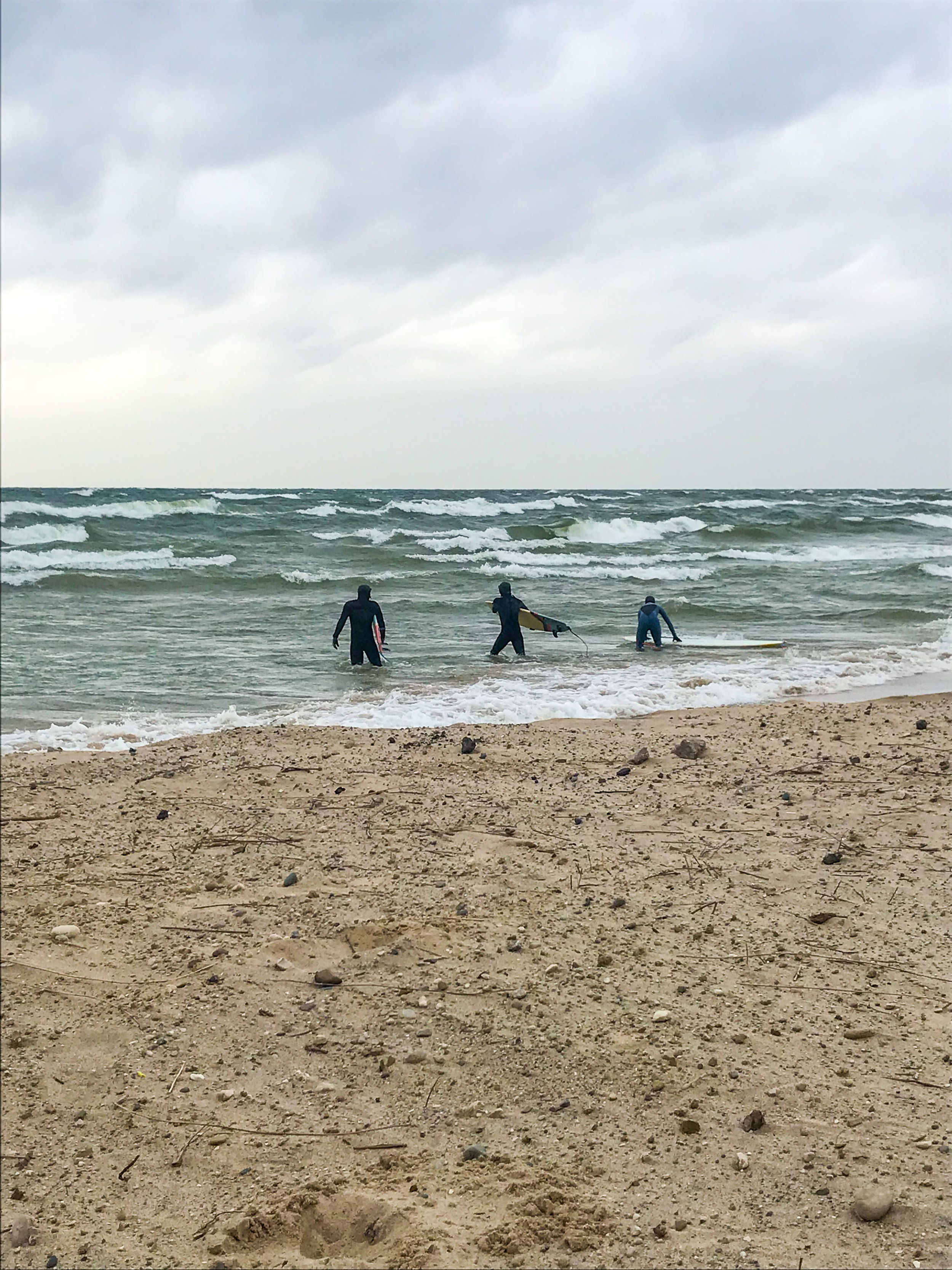 We attempted to surf in the insane wind… attempted