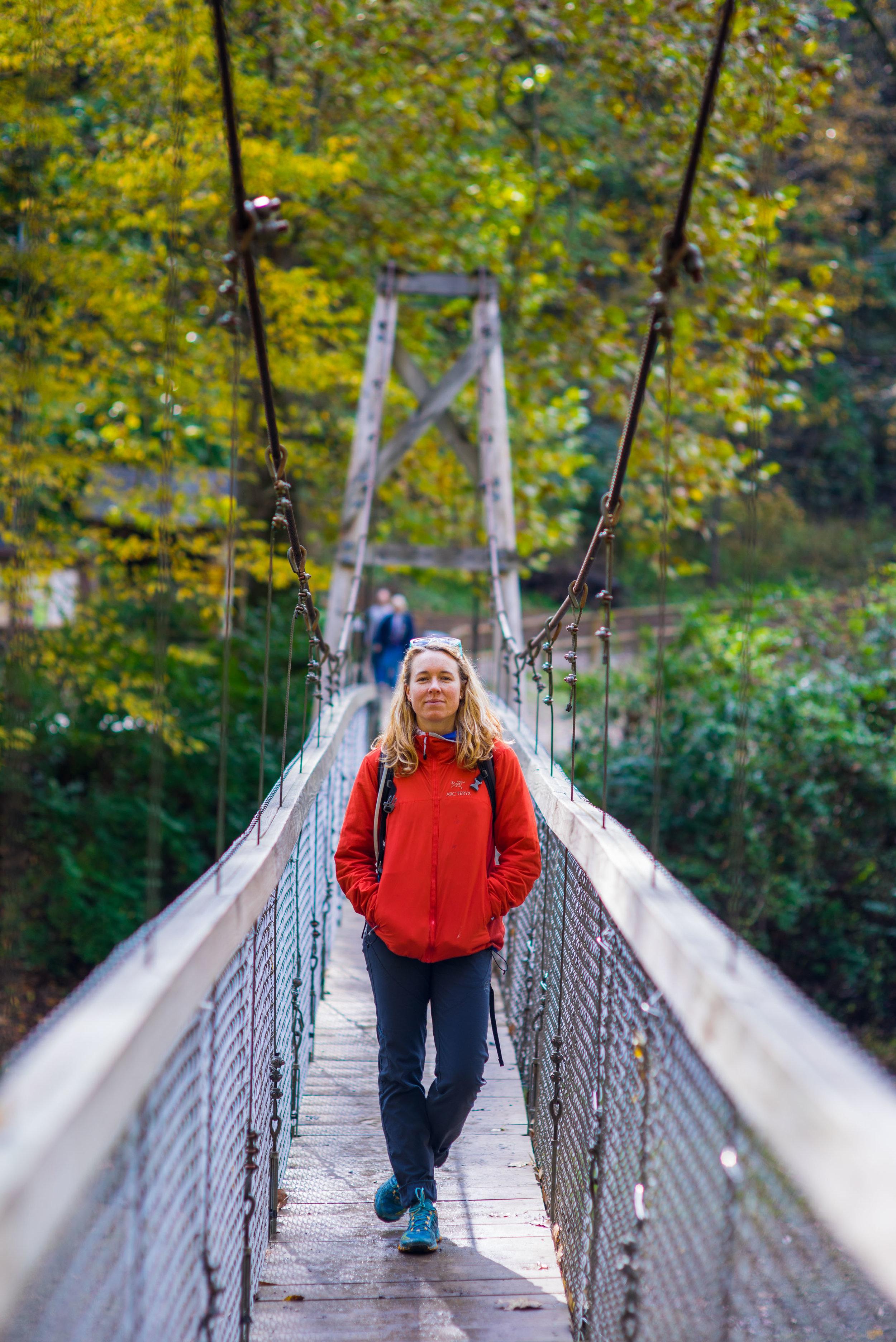 The bridge to the Natural Bridge hike