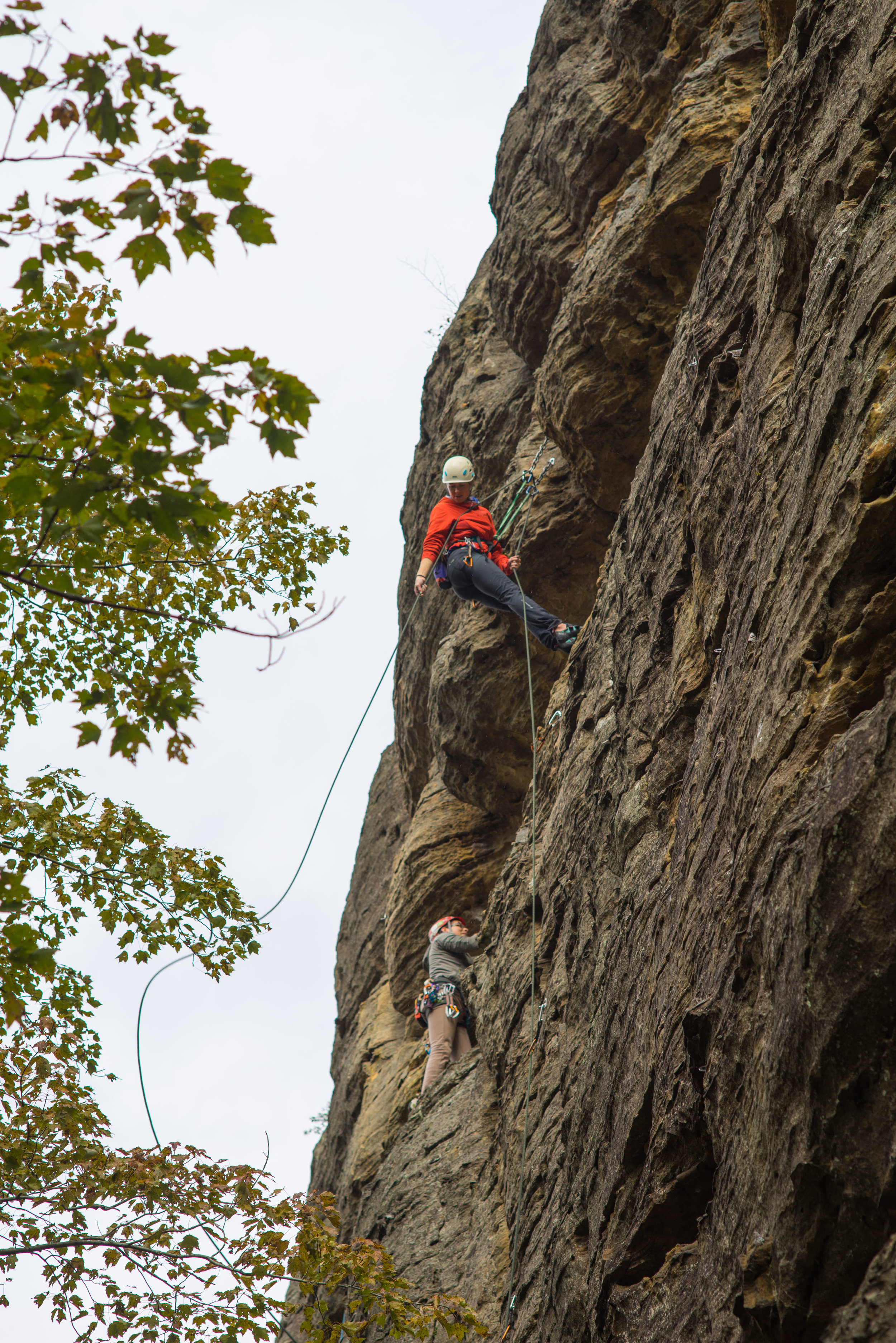 MAK cleaning a climb in Red River Gorge