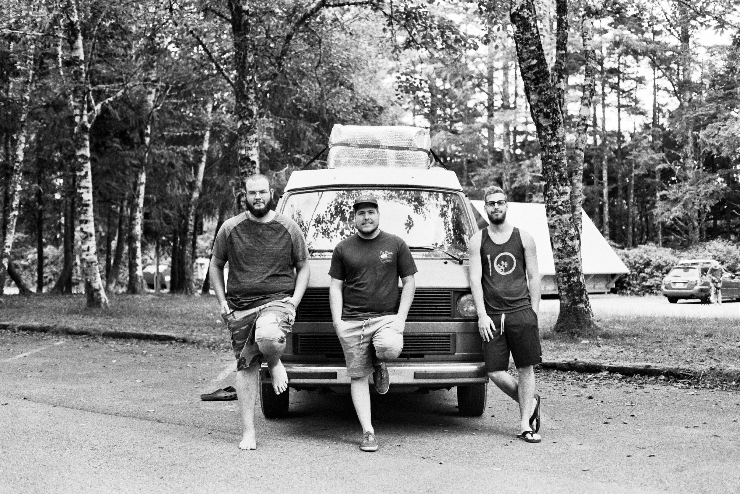 Oliver,  Phillip, & Sean on Vancouver Island where we met them last year