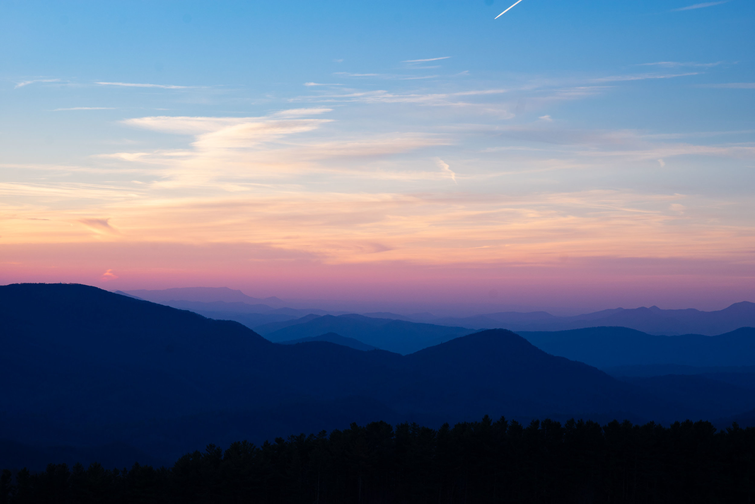 Sunset from Max Patch, North Carolina