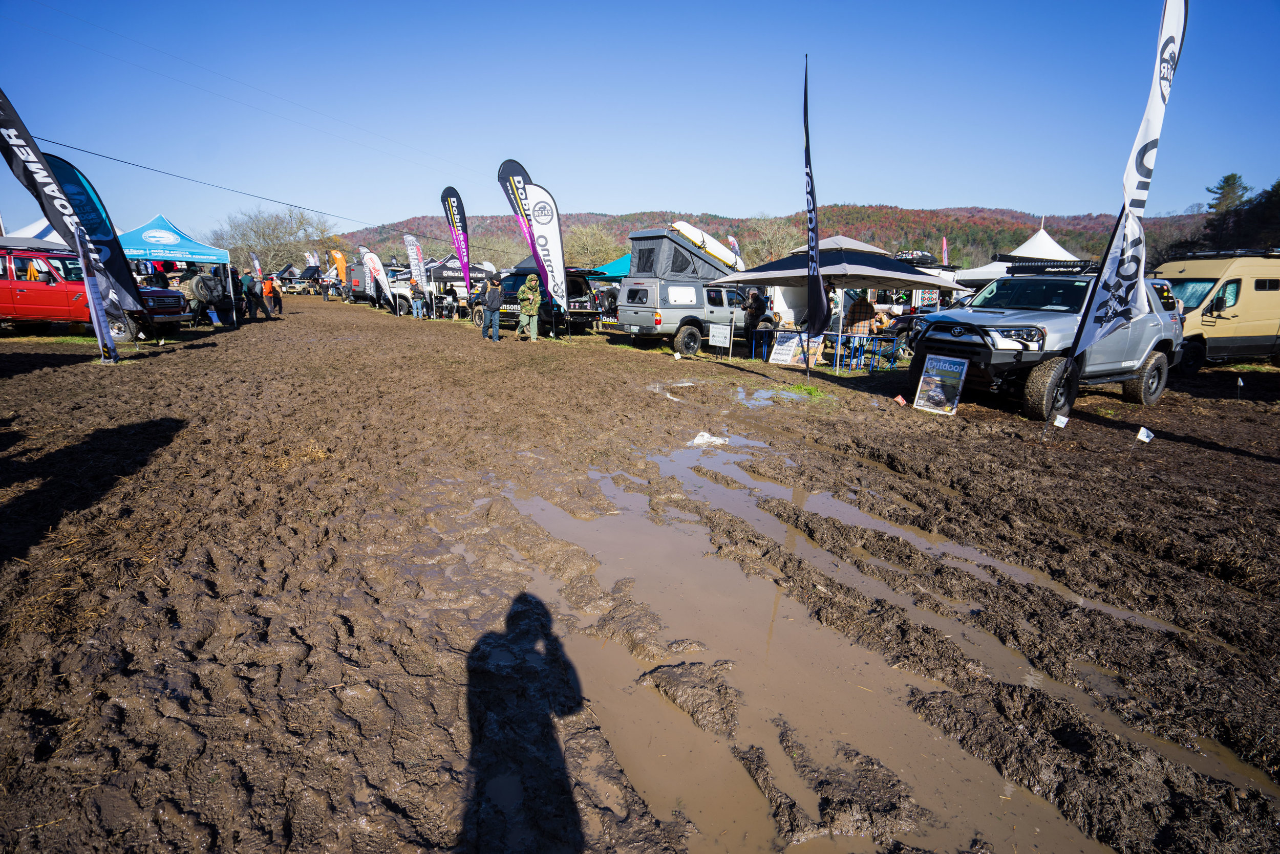 This is a small taste of the mud that we trudged through at Expo East
