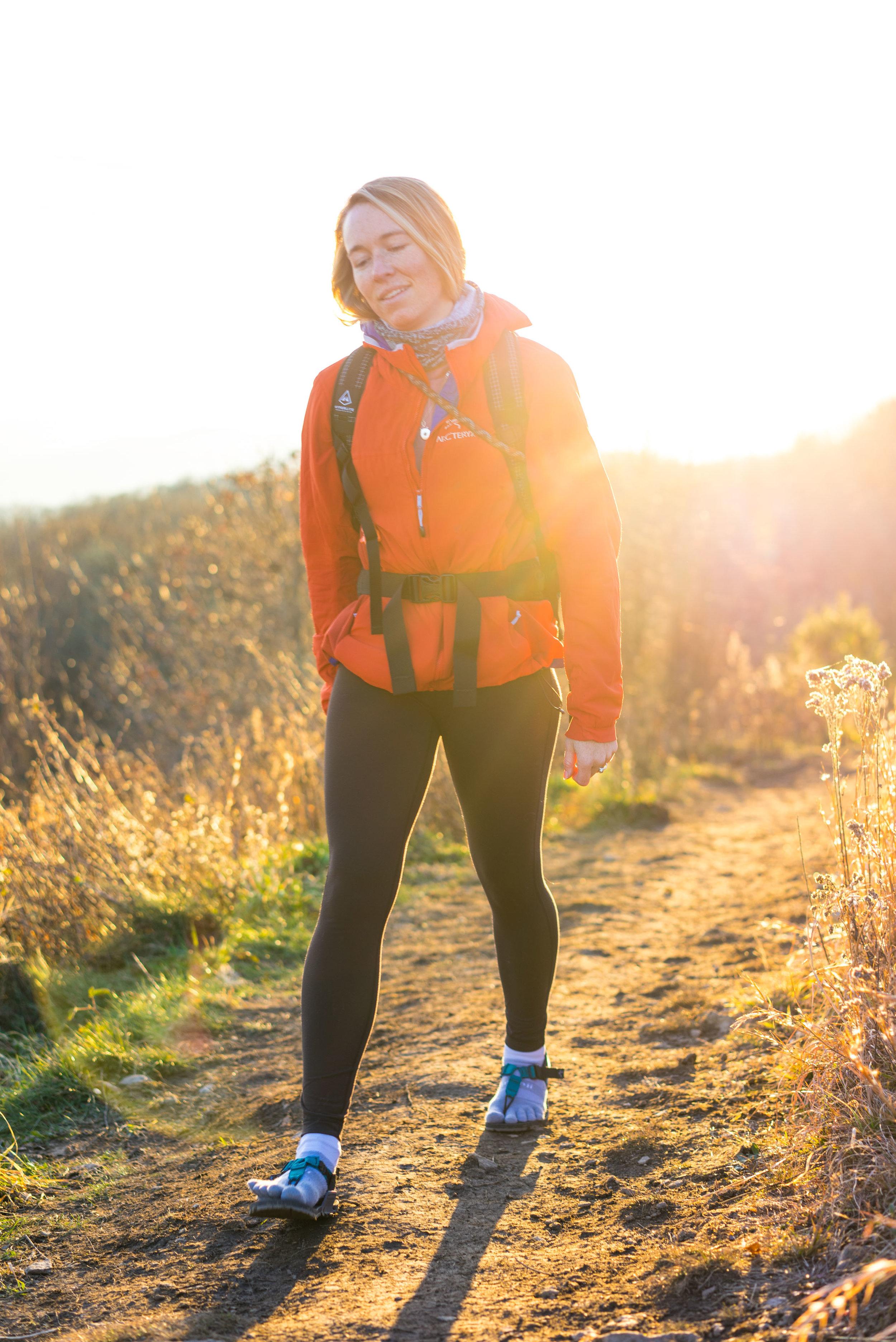 MAK hiking up Max Patch