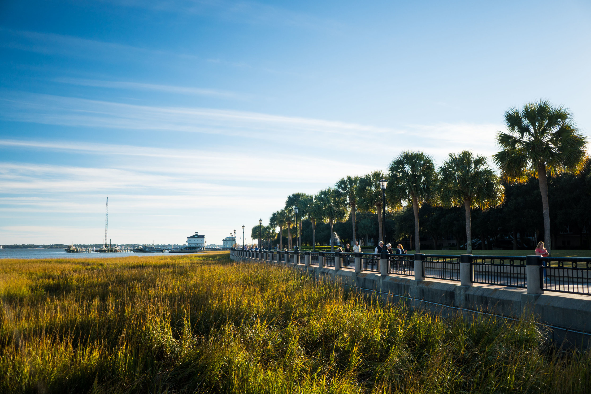 Strolling along the water in Charleston