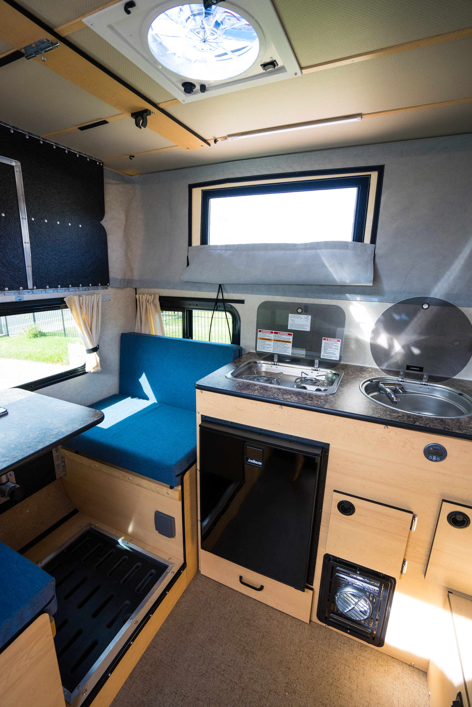 View looking towards the back driver side of the camper