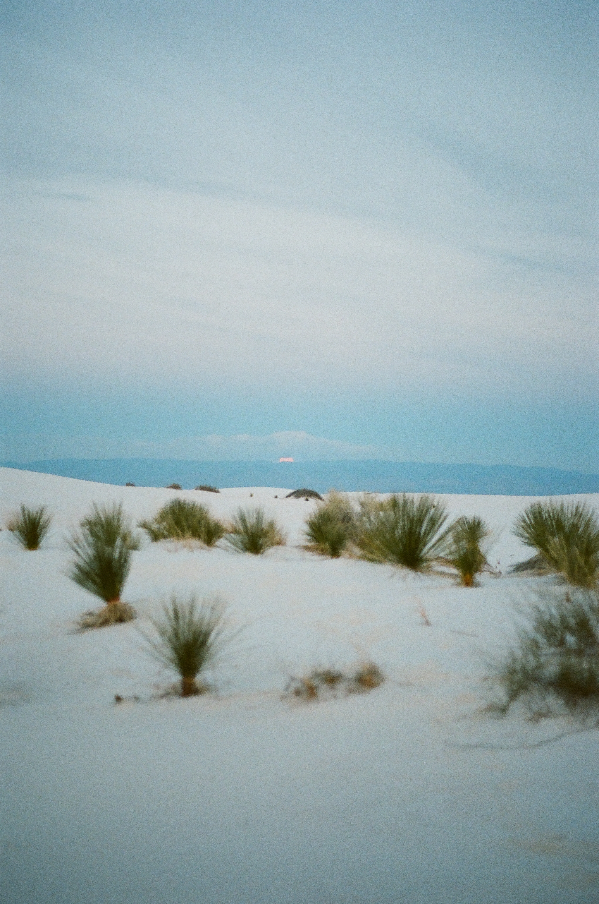 Moon rising over White Sands, 35mm