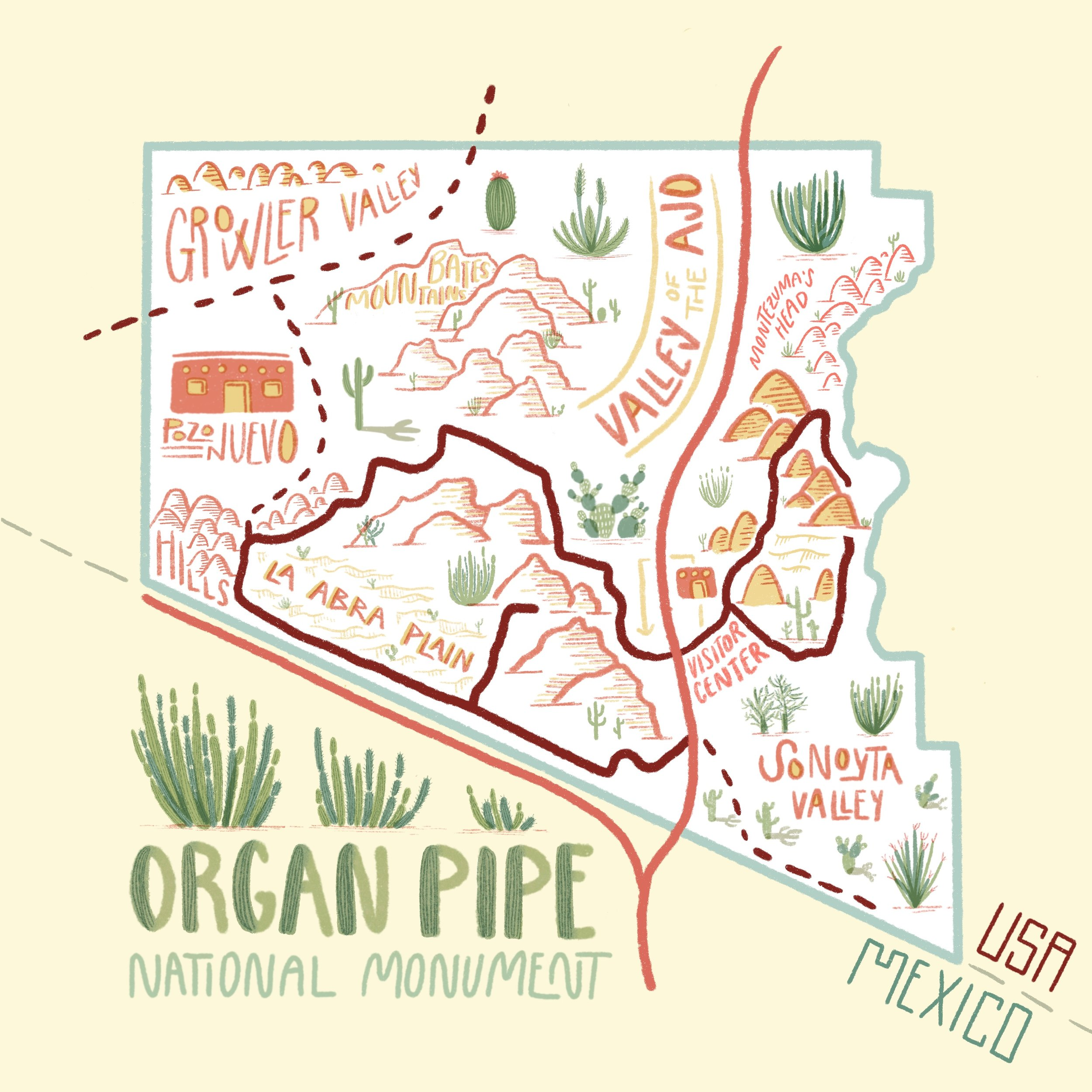 Illustration of Organ Pipe NM by   MAK