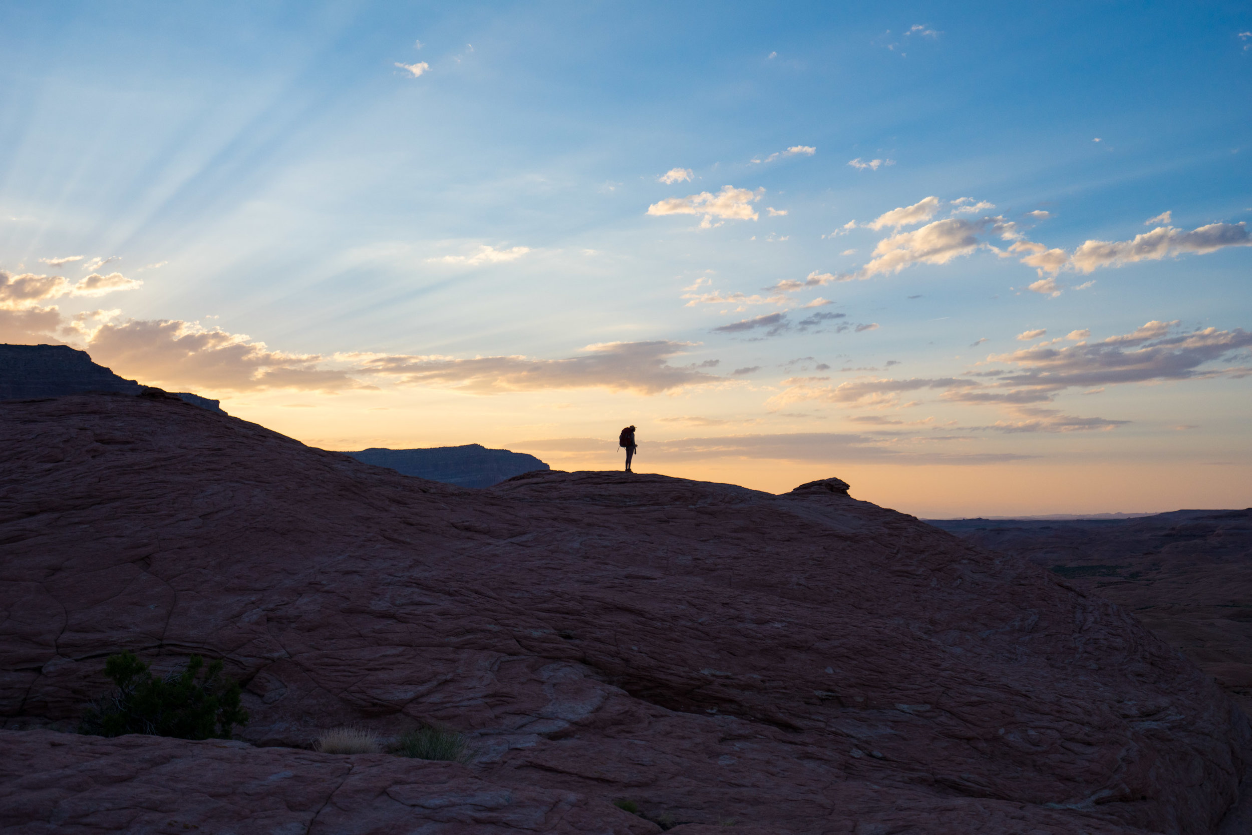 Hiking in the Grand Staircase - Escalante National Monument backcountry
