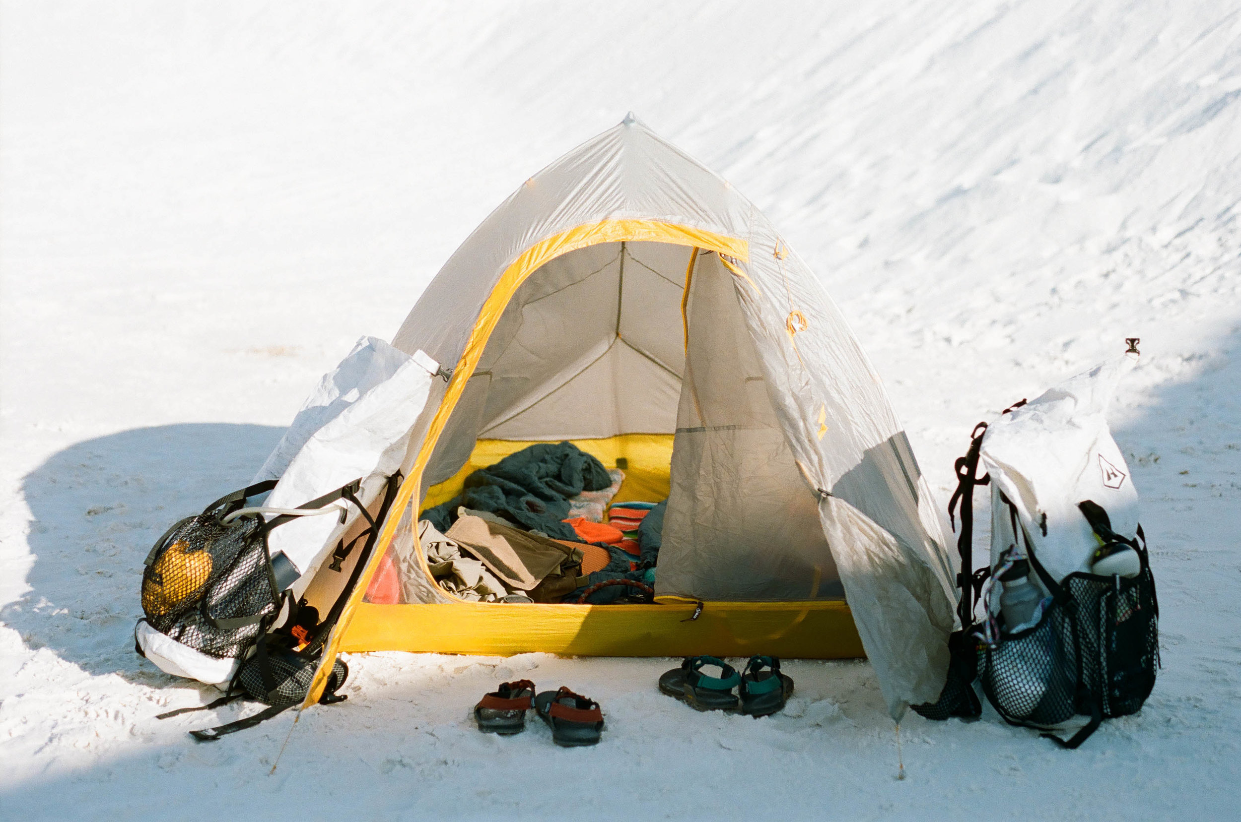 This is the tent and backpacks we will be using on trail
