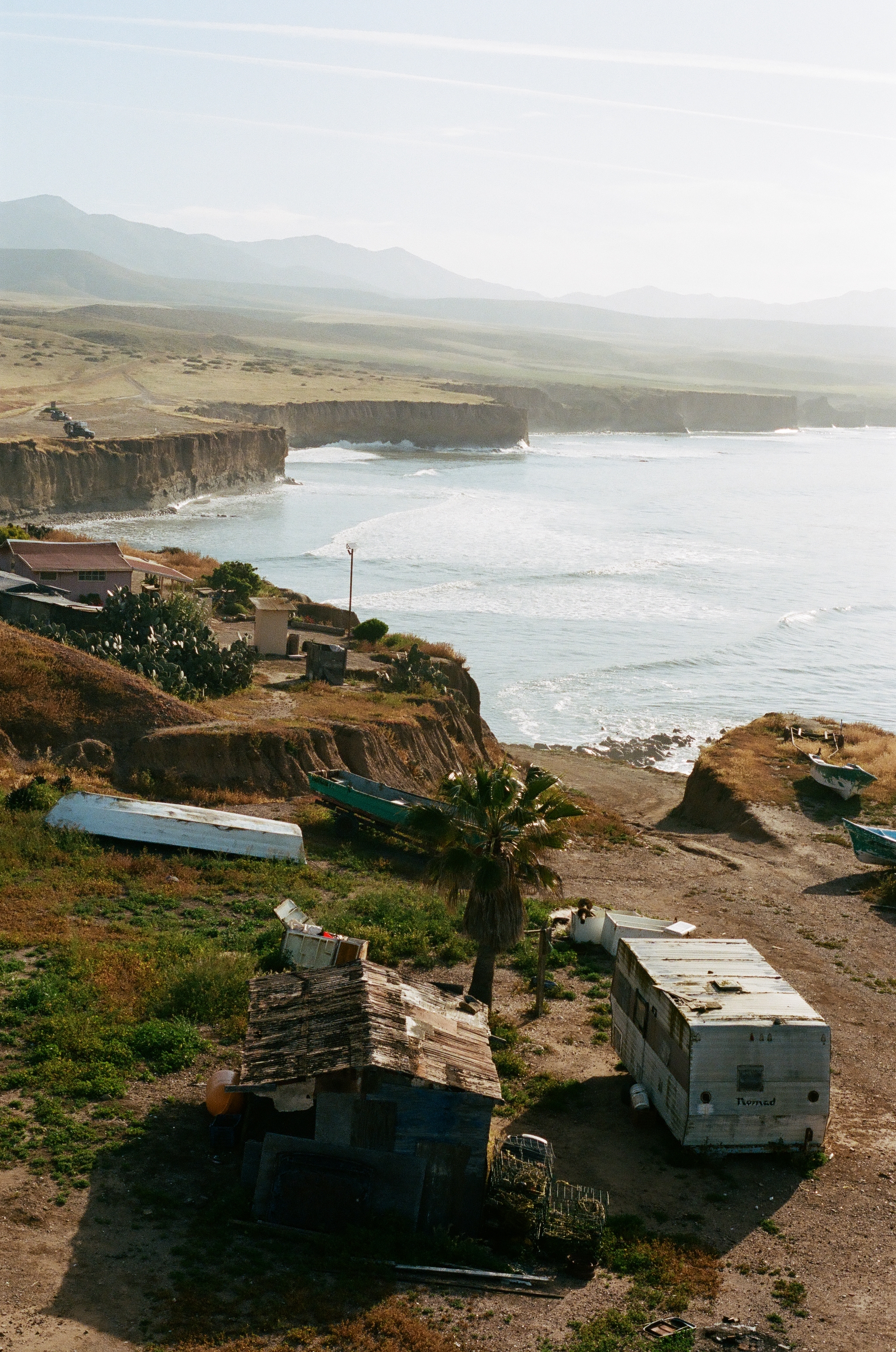 Small fishing village above the point, 35mm