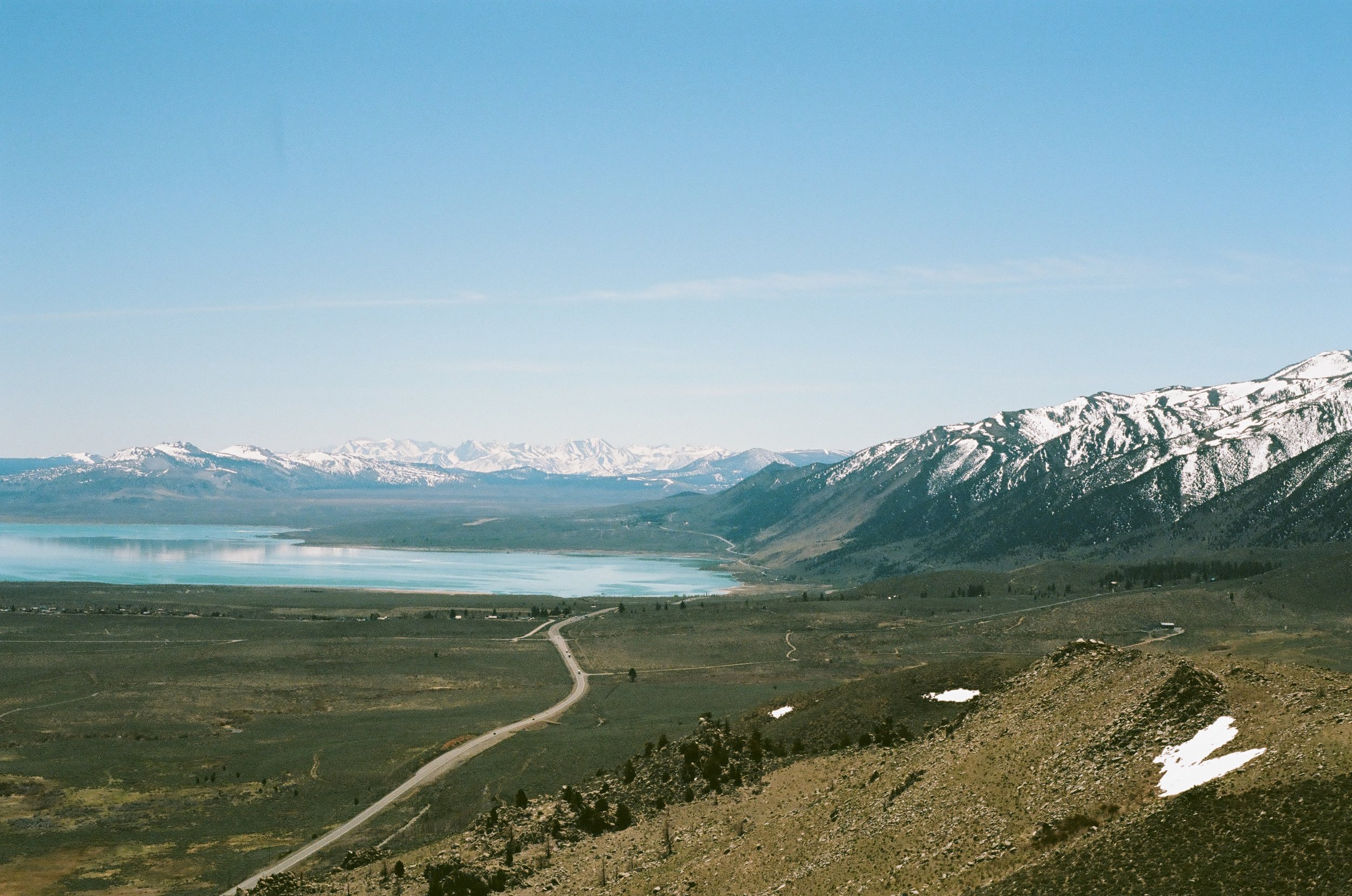 Road towards Mono Lake the next day, 35mm