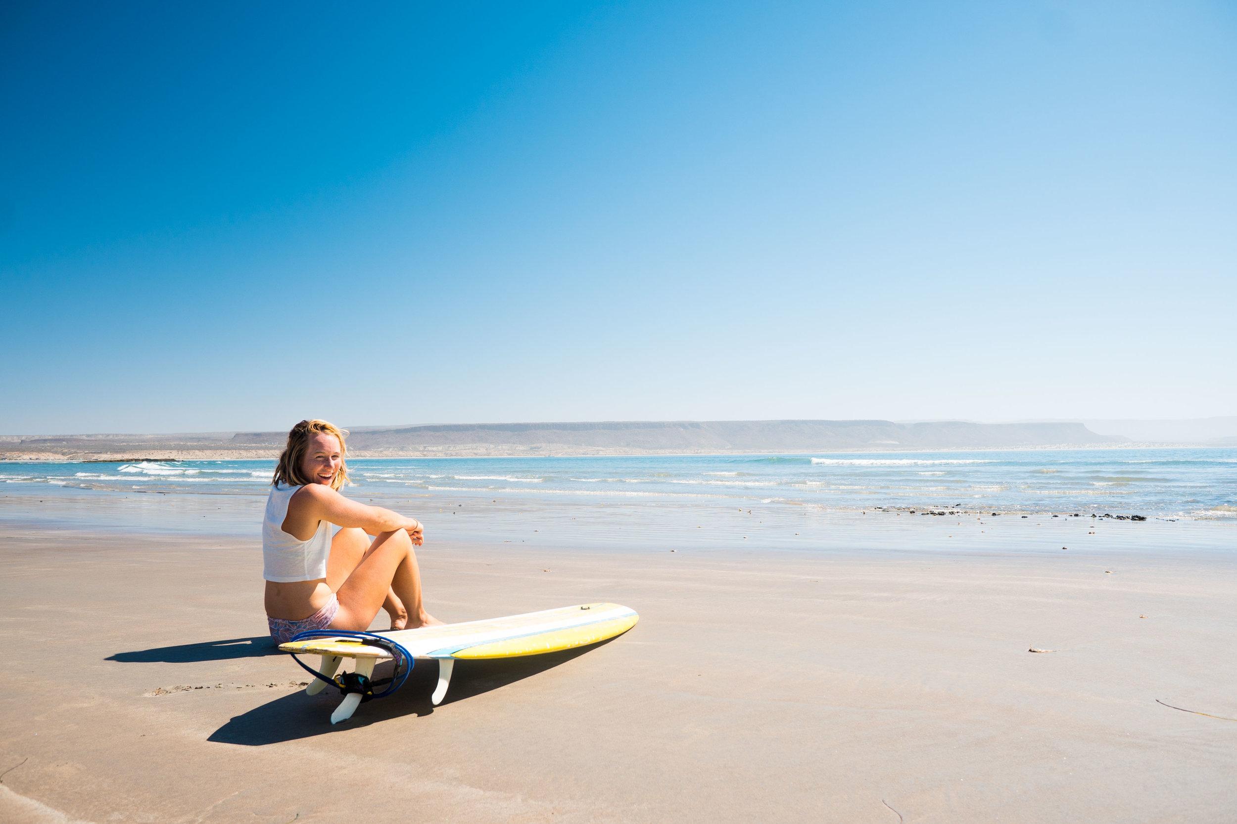 MAK pre-surf in Baja