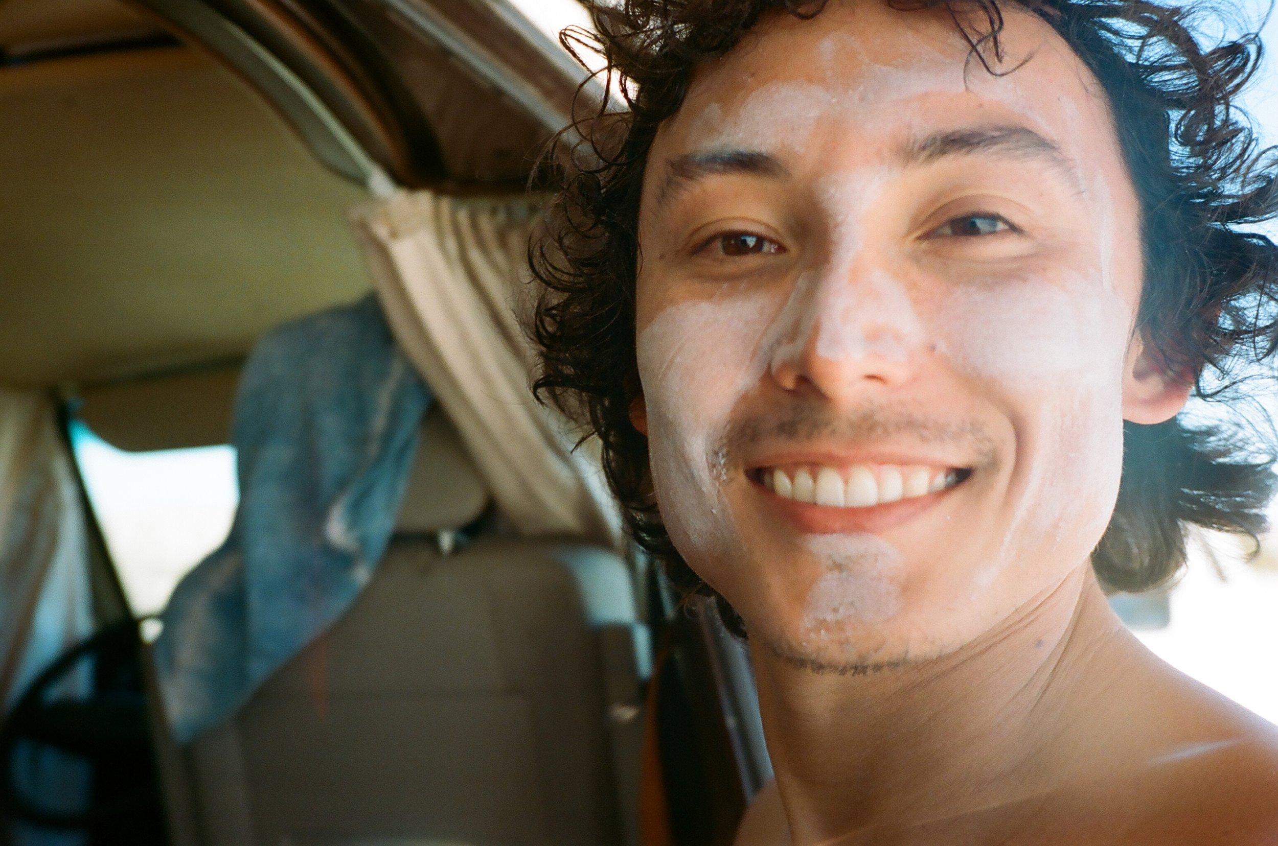 Owen in his sunscreen