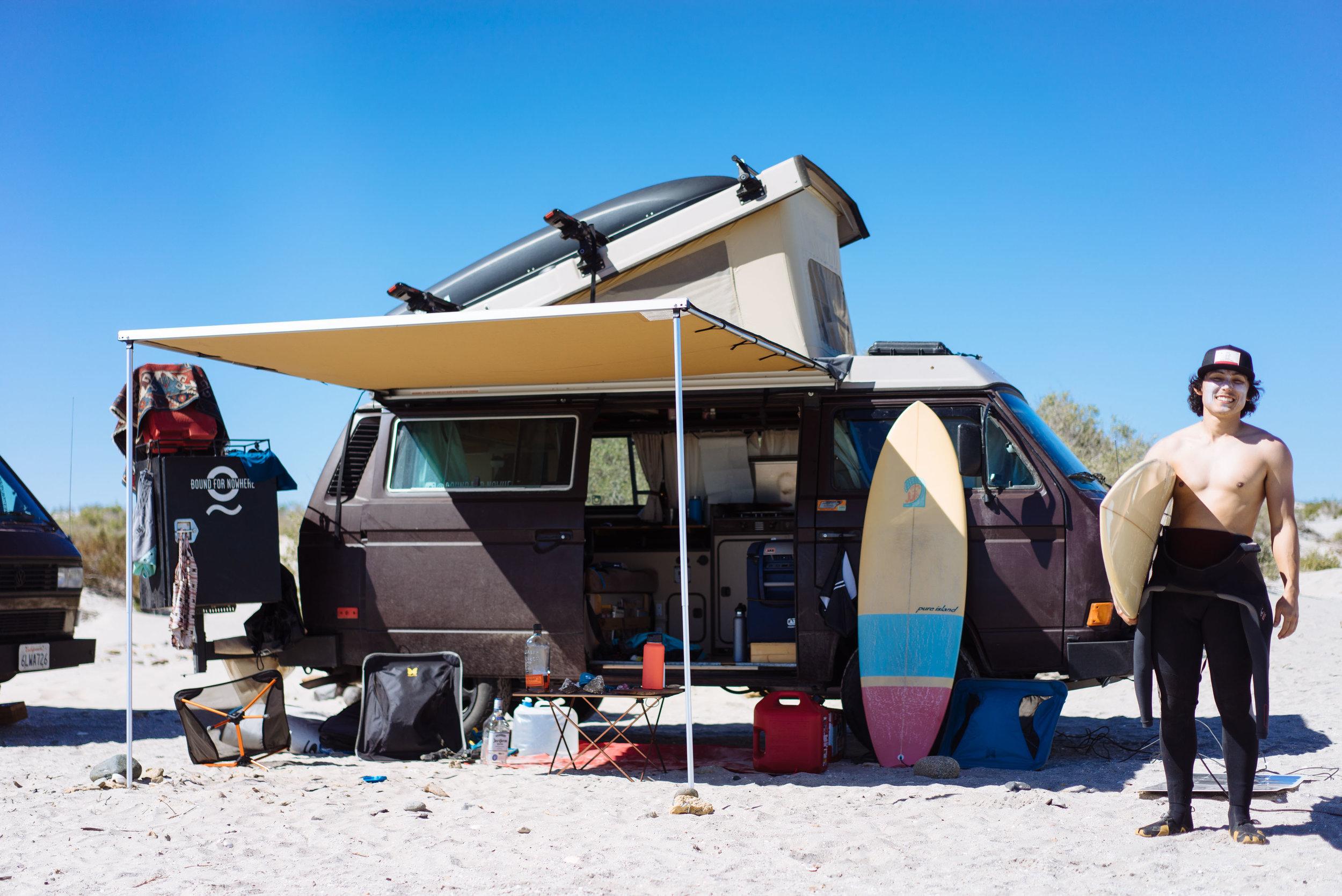Owen pre-surf in Baja