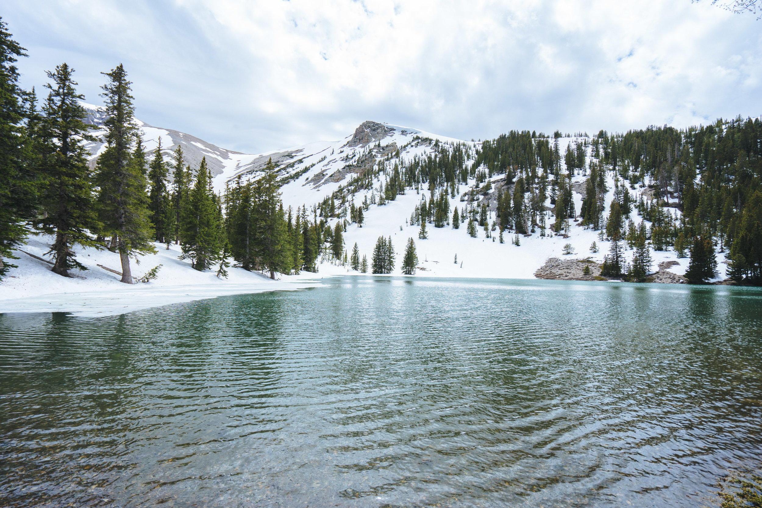 Great Basin NP, Nevada while on a training hike in the snow