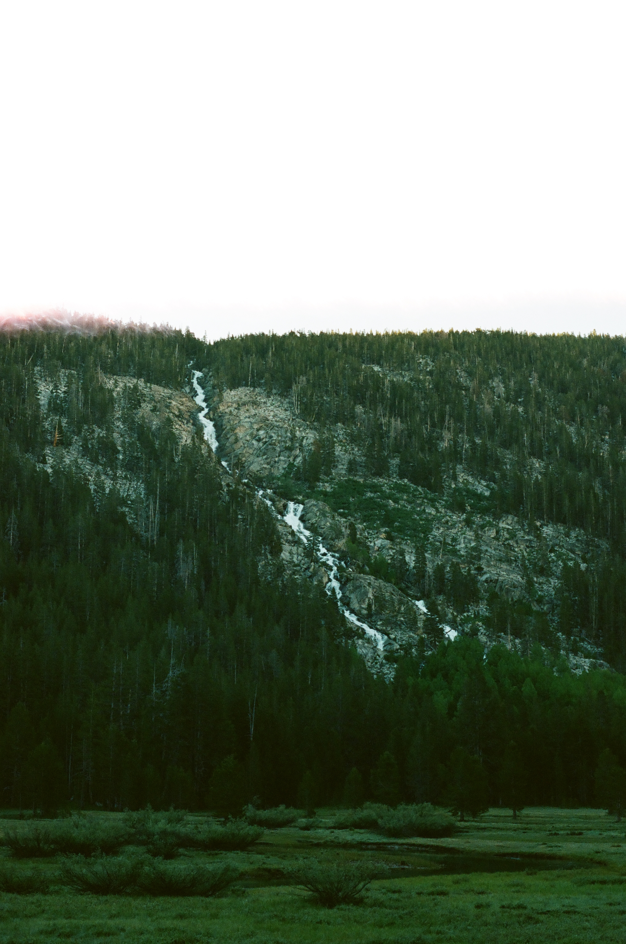 Falls in Lyell Canyon, 35mm film
