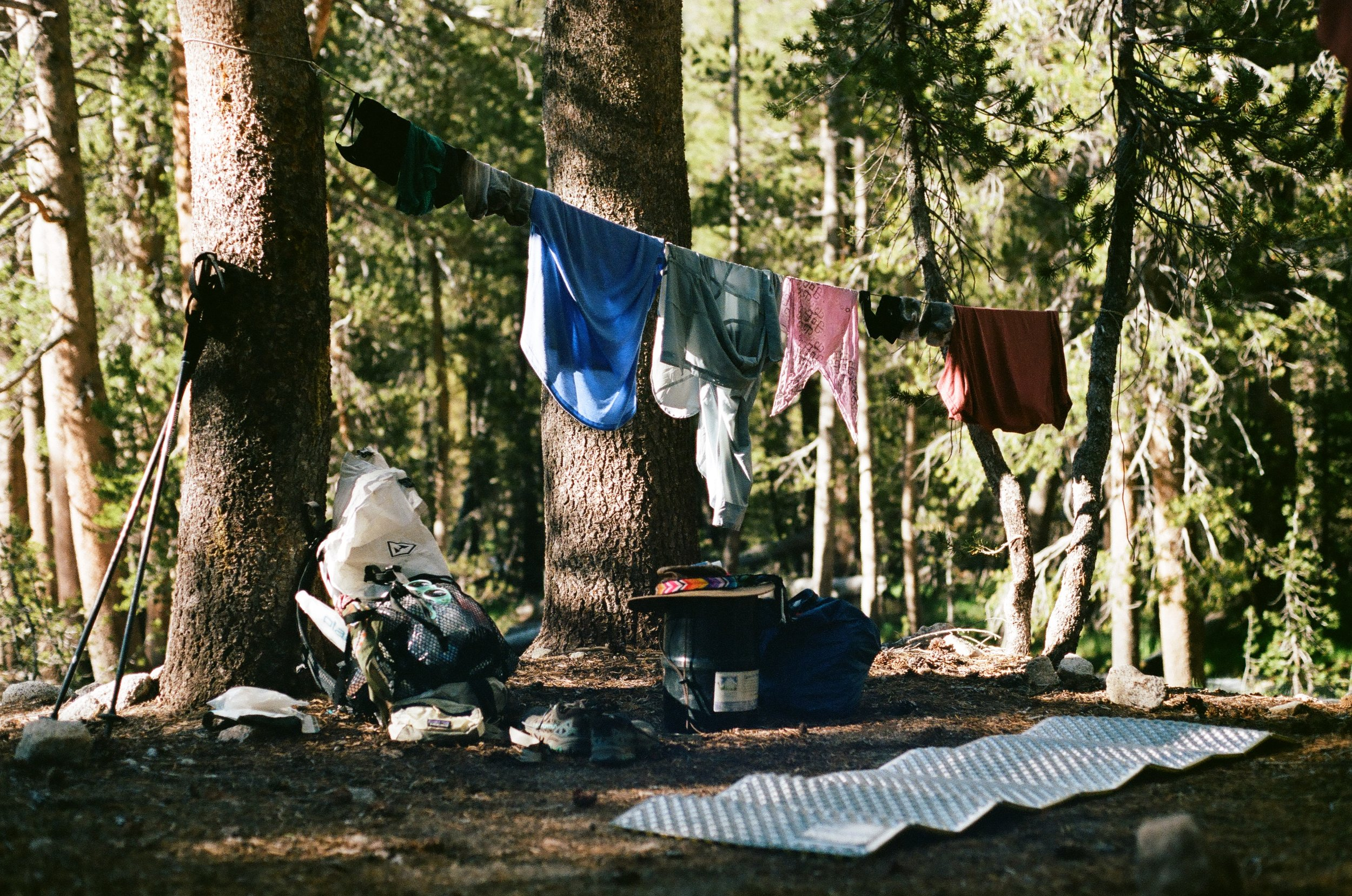 Camp spot at the end of day 2 - 35mm film