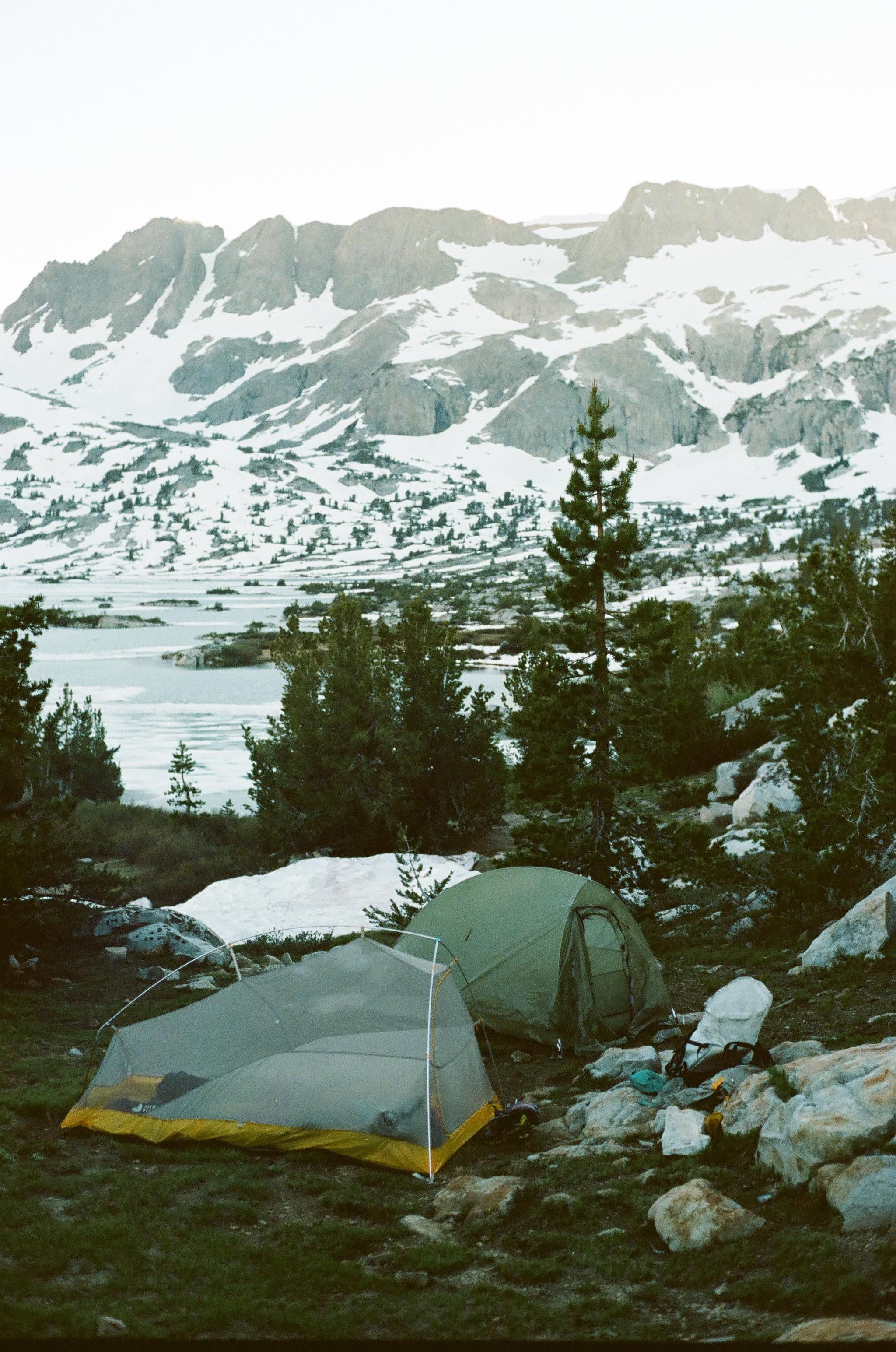 Camp at Thousand Island Lake, 35mm film