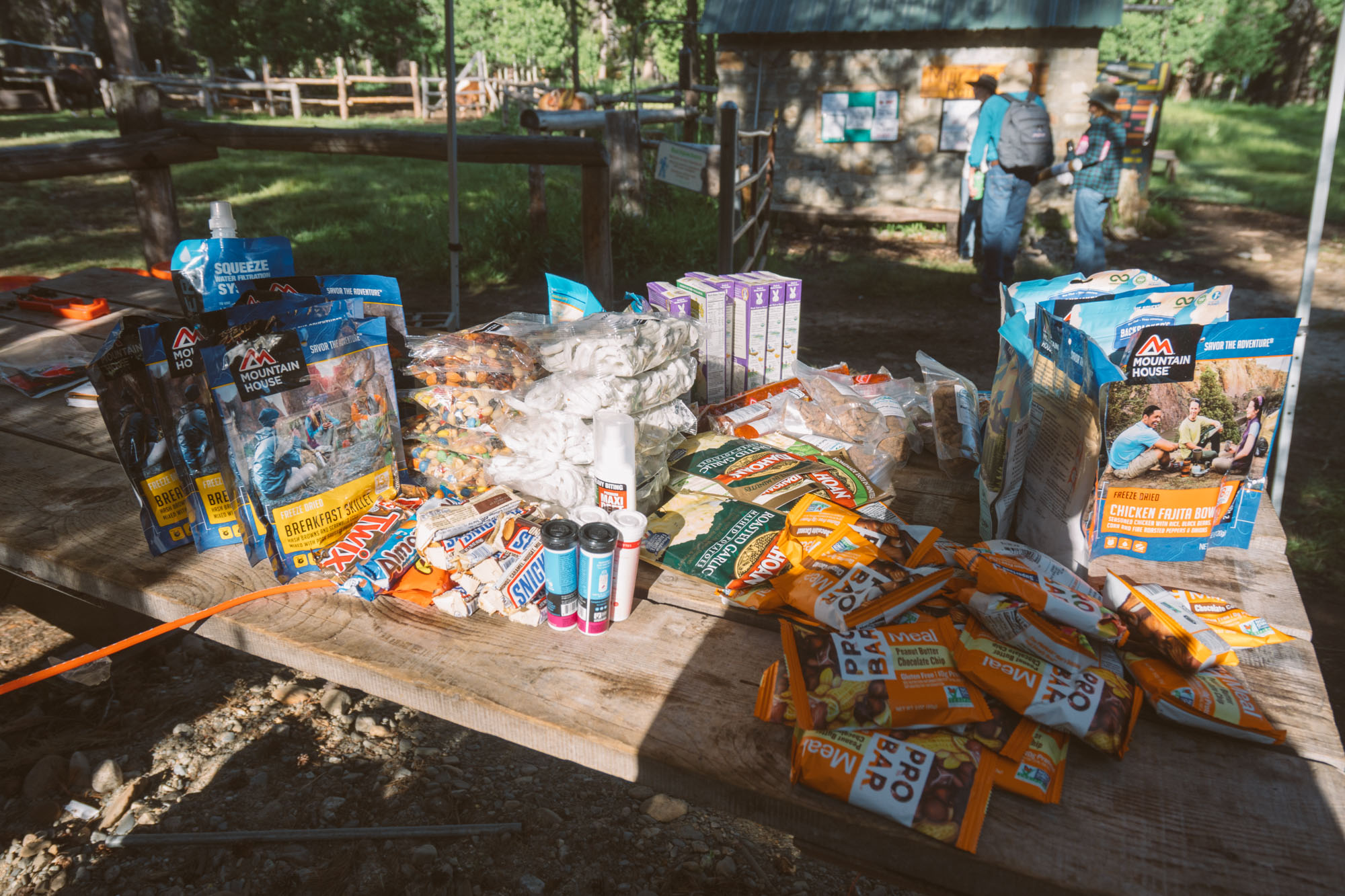 Alllllll the food for the last 8 days on the trail