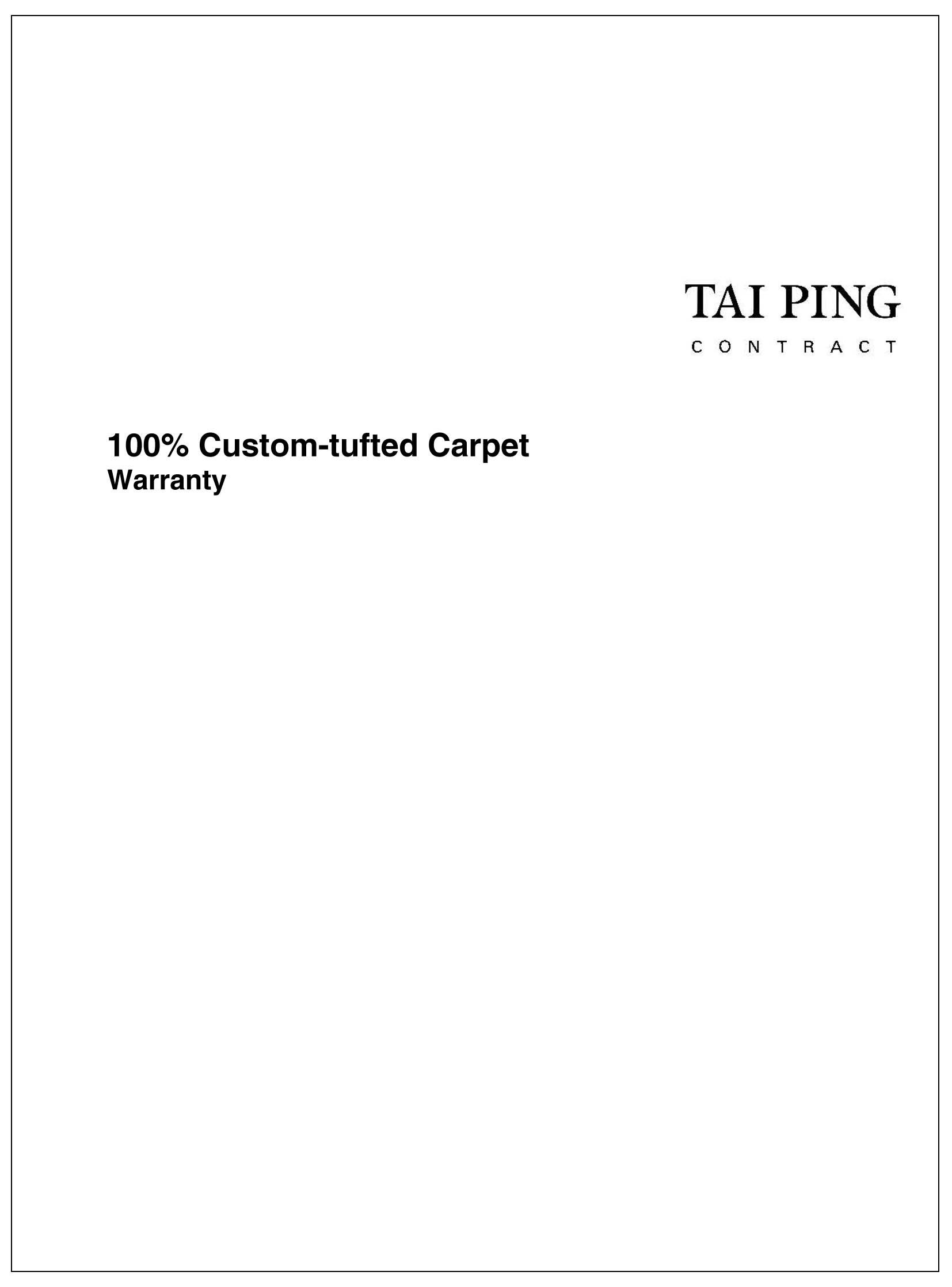 Custom-tufted Warranty