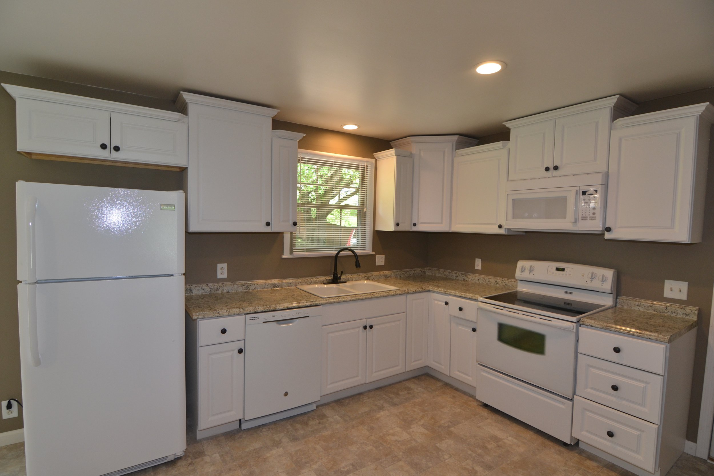 New Kitchen Cabinets, Countertops, Appliances, New Faucets and Hardware