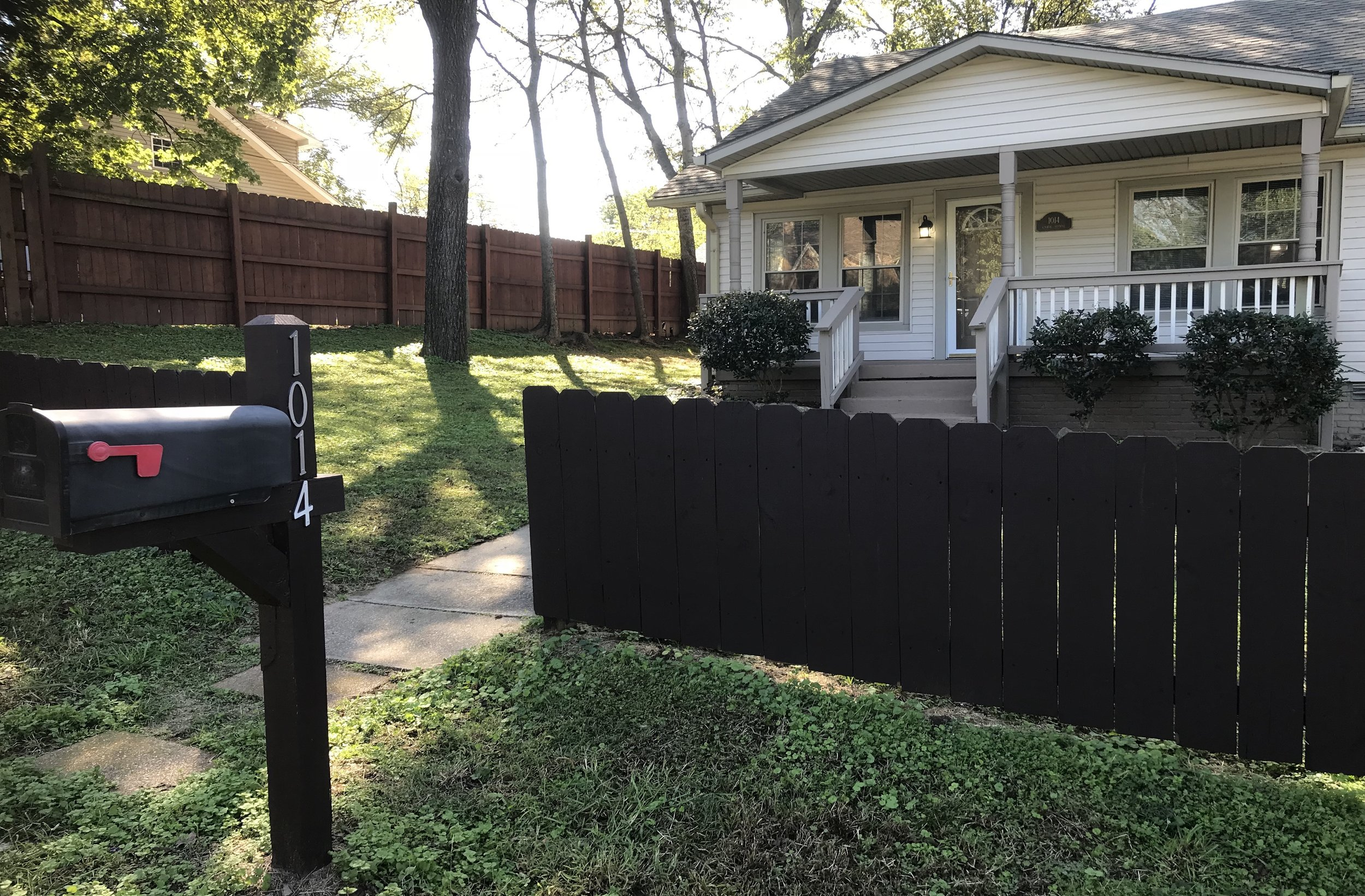 1014 Cahal   RENTED   E. NASHVILLE:   Single Family Home  3 Br, 1.5 Ba + Covered Porch +Privacy Fenced