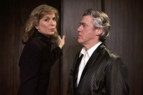 Catherine Russell as Margaret Thorne Brent and David Butler as W. Harrison Brent in Perfect Crime.