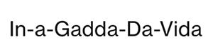 - In-A-Gadda-Da-Vida