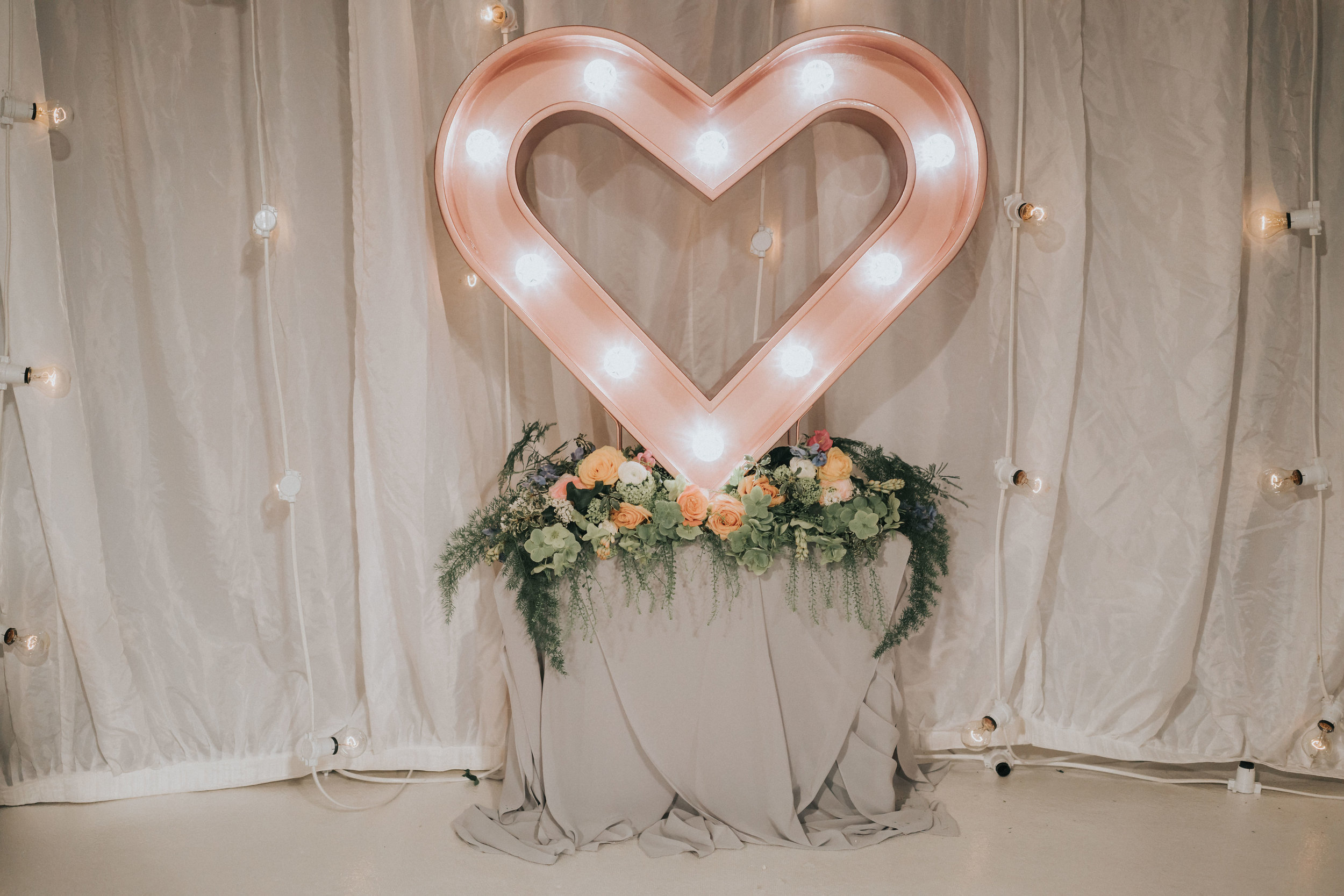 "- Stacy Loves… ""Lola our rose gold love heart. She was one of the first products I ever designed and brought to life and is still to this day one of our most popular products, as she looks classically beautiful in any setting. I still get the wow factor with her when our real life brides send us their images."""