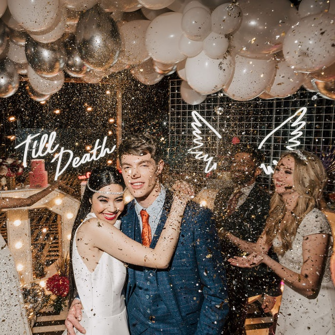 Neon Lighting Hire Wedding