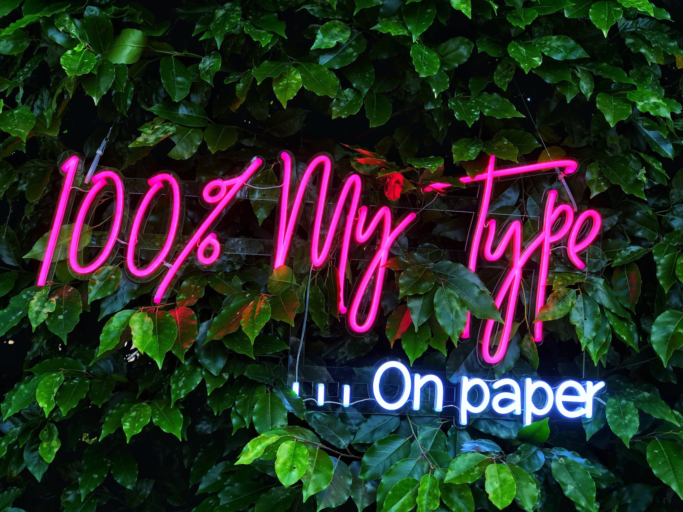 100% MY TYPE ON PAPER NEON