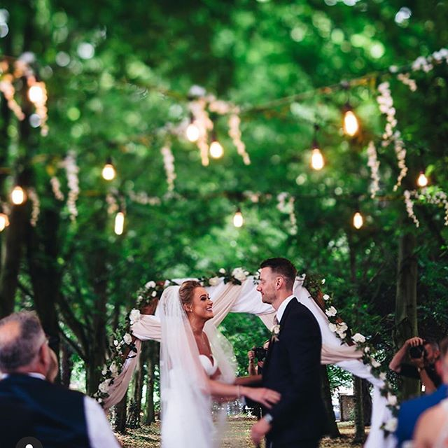 ** FESTOON CANAPÉ ** : So good you could eat.... ✨✨✨ : A little play on words here but you get our drift when we were asked to light up the sky (literally) by our beautiful bride @hummingbirdbridalstudio we said ... no worries ! : Beautiful vintage string lighting hung from tree to tree over the wedding ceremony and guests was simply stunning .... what do you think ?? : Do you need an outdoor area lighting up ?? : #festoonlights #weddinglights #weddingideas #weddingdecor #weddingstringlights #lltw #lovelightstheway #perfectweddingdecor