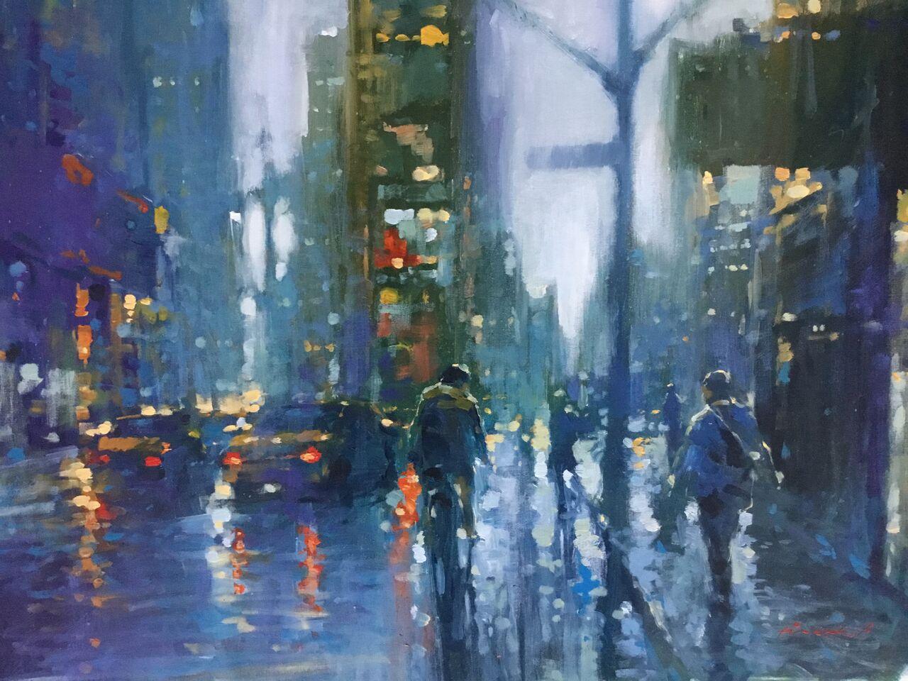 "David Hinchliffe ""Winter Morning"" Acrylic on Canvas 32"" x 26"" $2400"