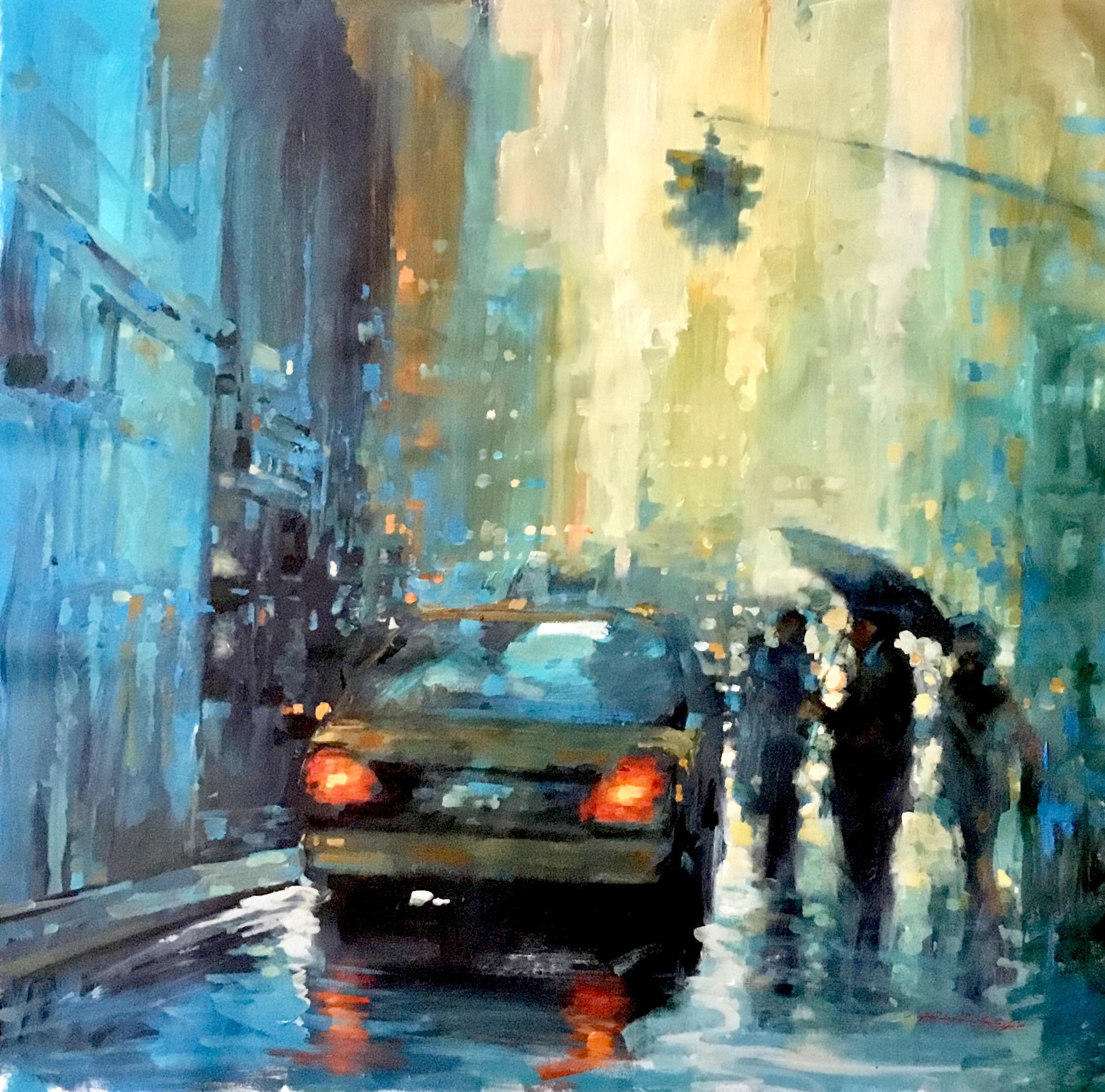 "David Hinchliffe ""Heavy Rain"" Acrylic on Canvas 32"" x 32"" $2550"