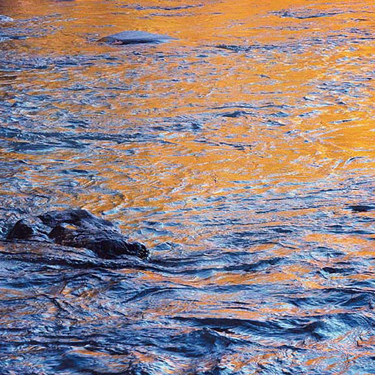 """Christopher Burkett """"Blue and Gold Swirling Water,"""" Colorado     Cibachrome Photograph     Available in 20"""" x 20"""", 30"""" x 30"""", and 40"""" x 40"""""""