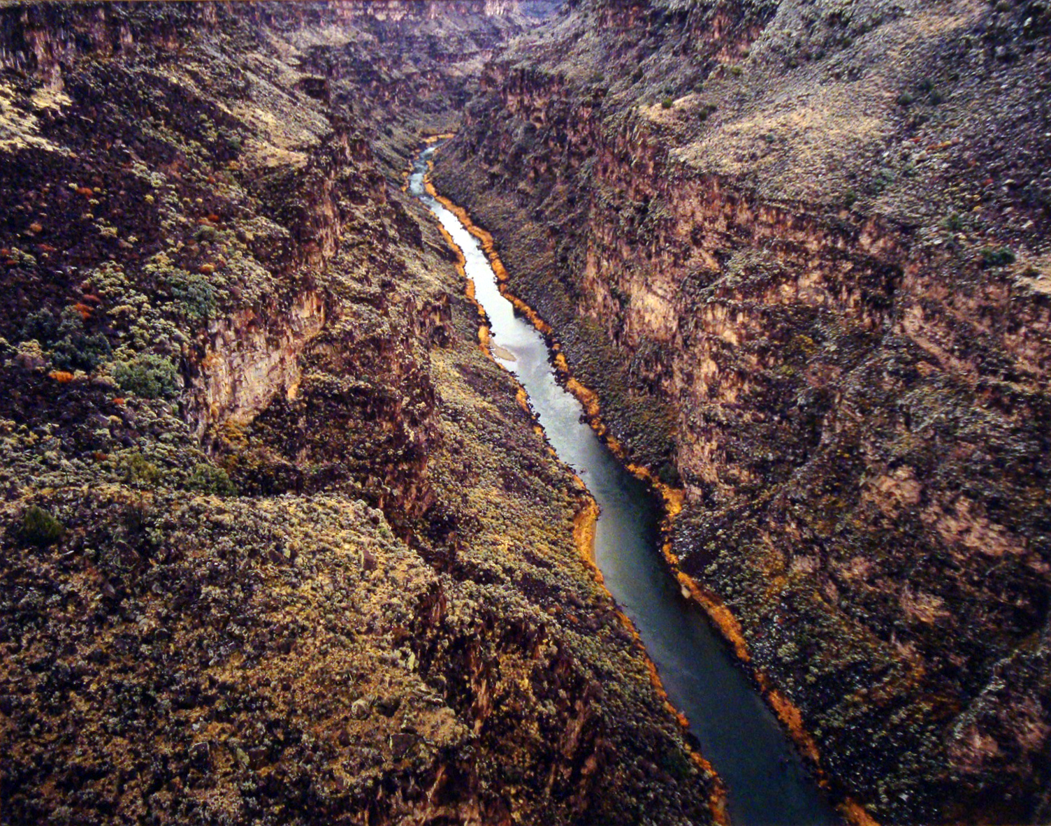 "Christopher Burkett ""Canyon of the Rio Grande,"" New Mexico  Cibachrome Photograph  Available in 20"" x 24"", 30"" x 40"", and 40"" x 50"""